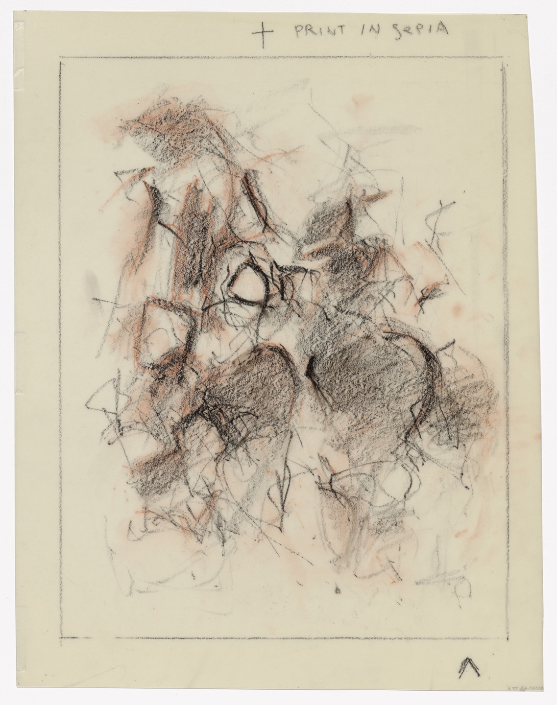 Joan Mitchell. Preparatory drawing for In Memory of My Feelings. 1967
