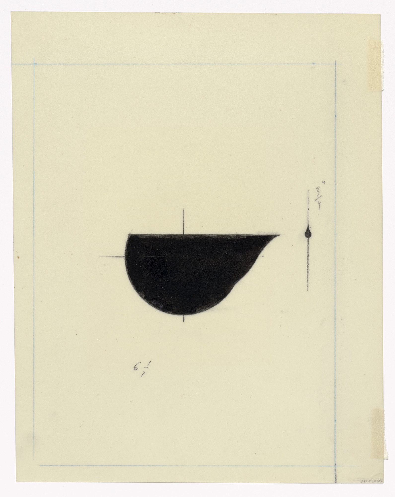 Claes Oldenburg. Preparatory drawing for In Memory of My Feelings. 1967