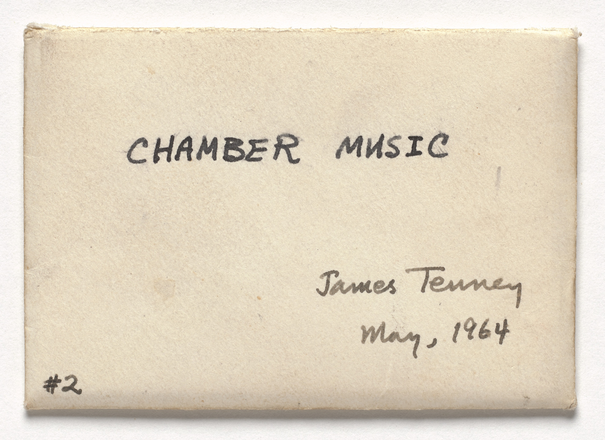 James Tenney. Chamber Music. 1964