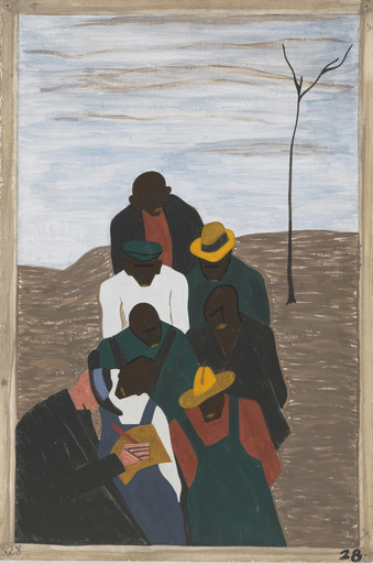 Jacob Lawrence. The labor agent who had been sent South by Northern industry was a very familiar person in the Negro counties. 1940-41