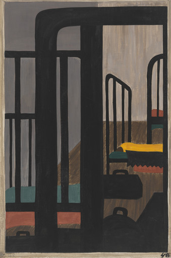 Jacob Lawrence. Housing for the Negroes was a very difficult problem. 1940-41