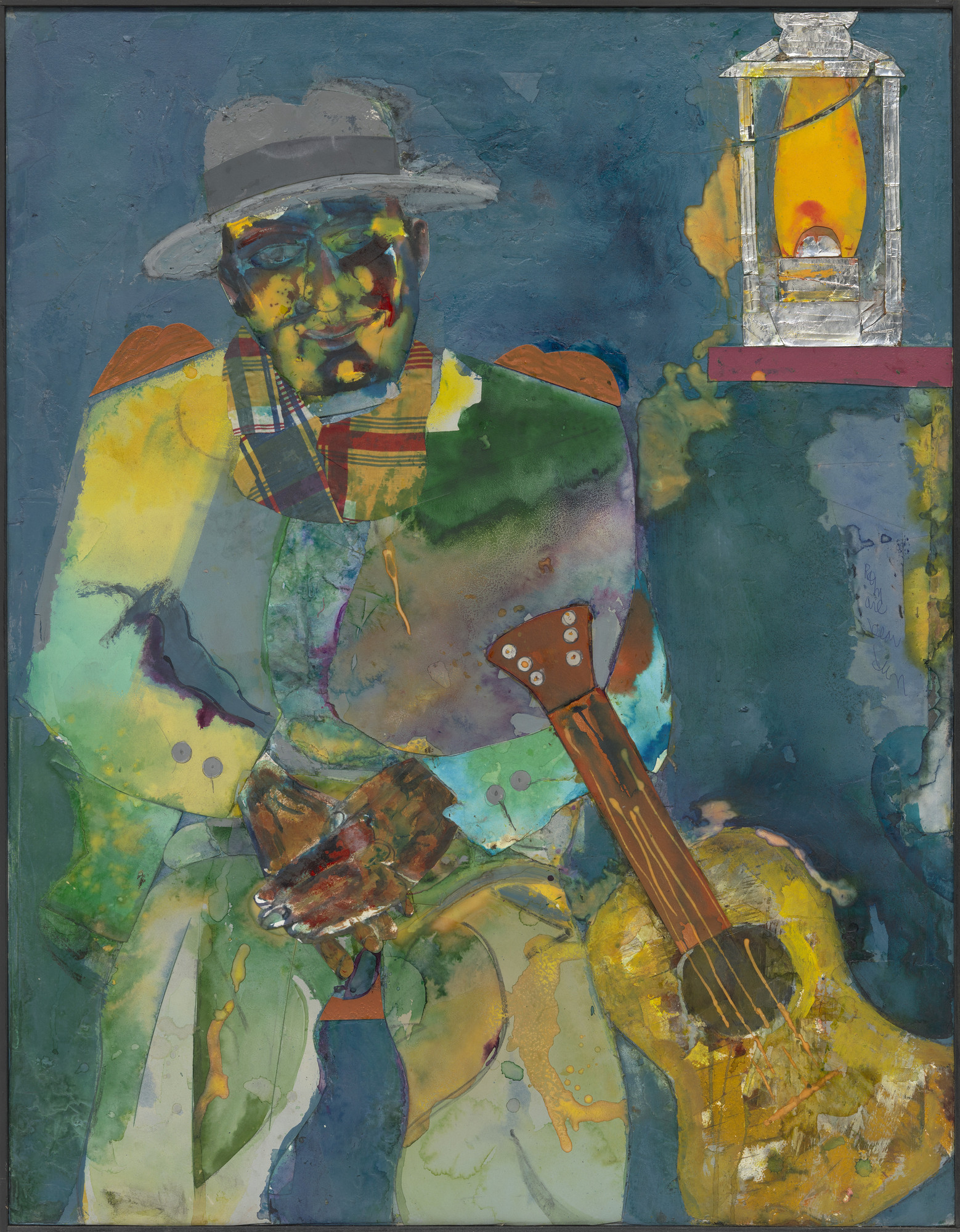 Romare Bearden. Autumn Lamp. (1983)