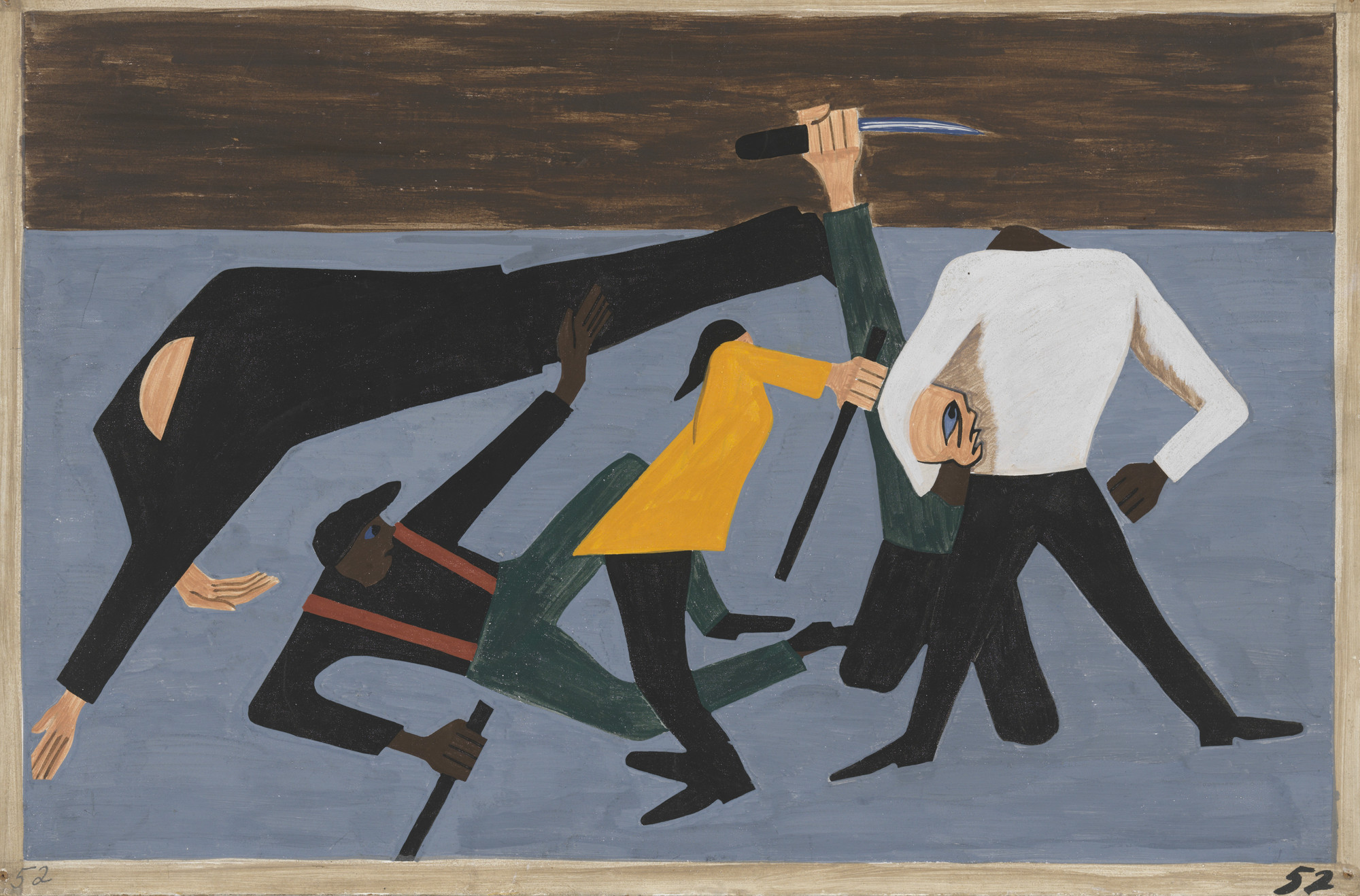 Jacob Lawrence. One of the largest race riots occurred in East St. Louis. 1940-41