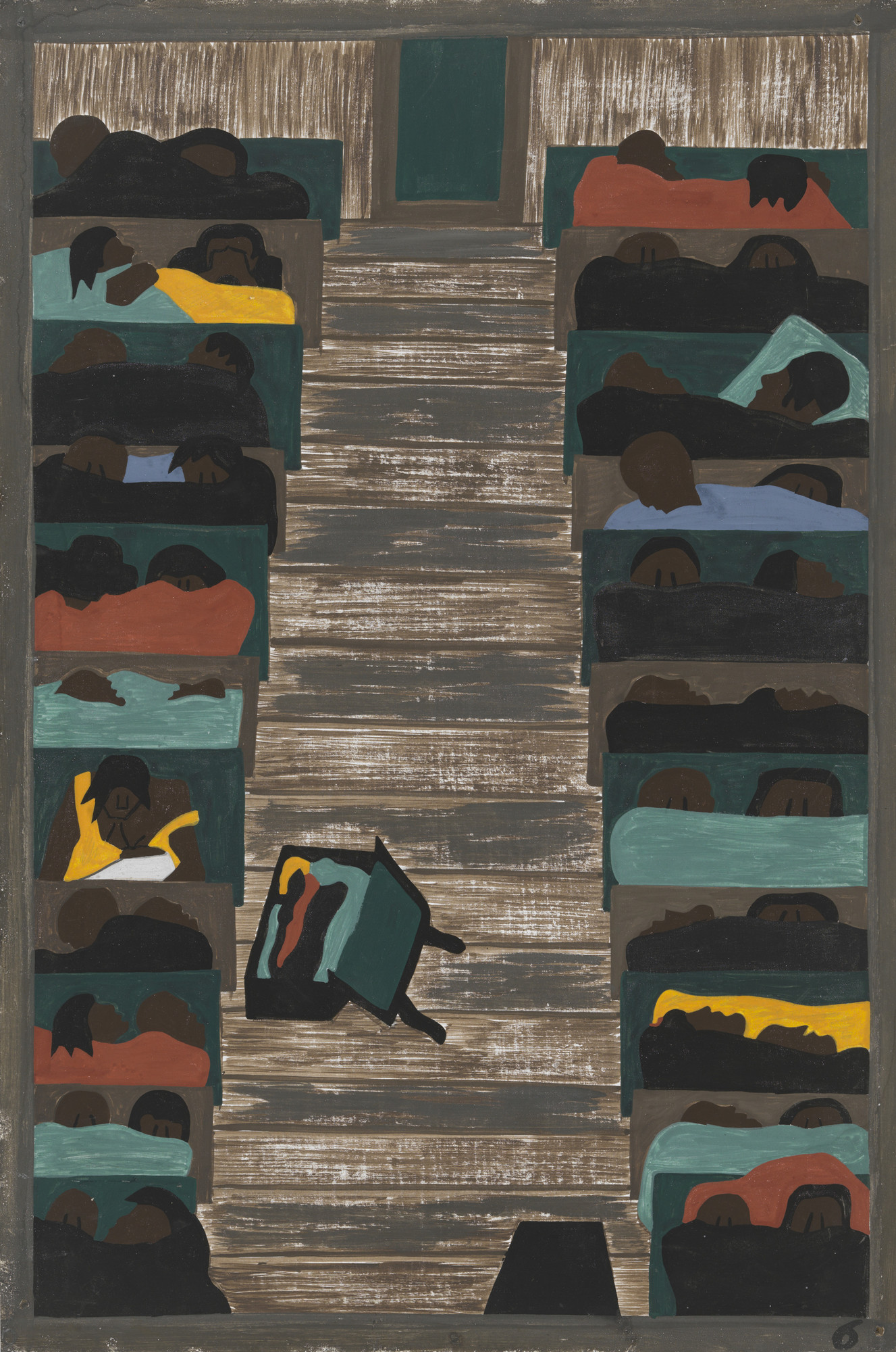 Jacob Lawrence. The trains were packed continually with migrants. 1940-41