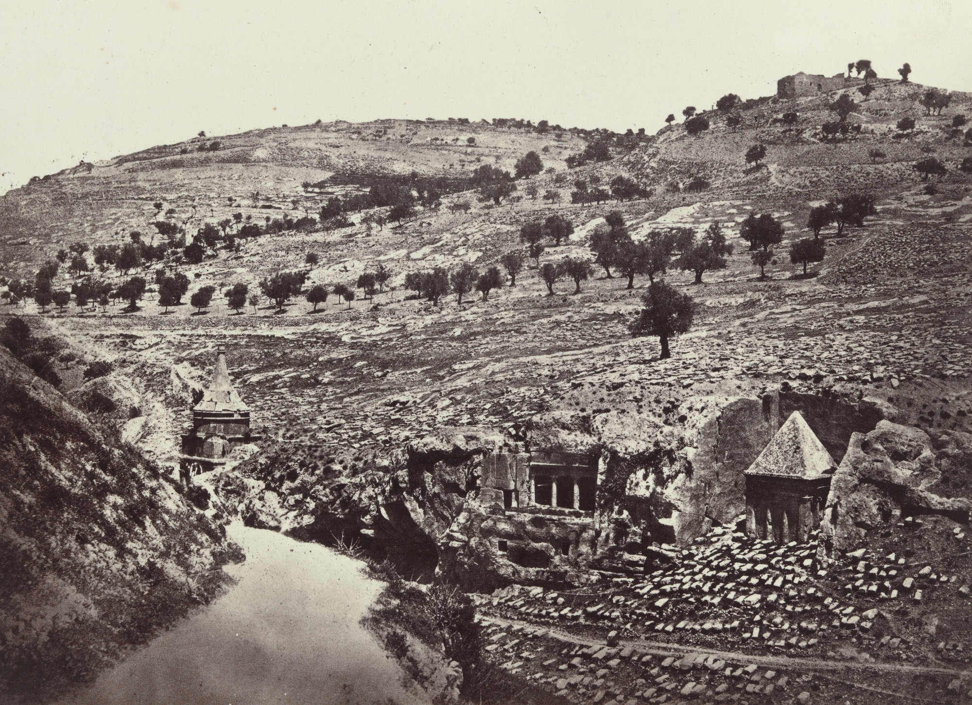 Francis Frith. The Valley of Jehoshaphat, Jerusalem (Plate 14). 1858-60