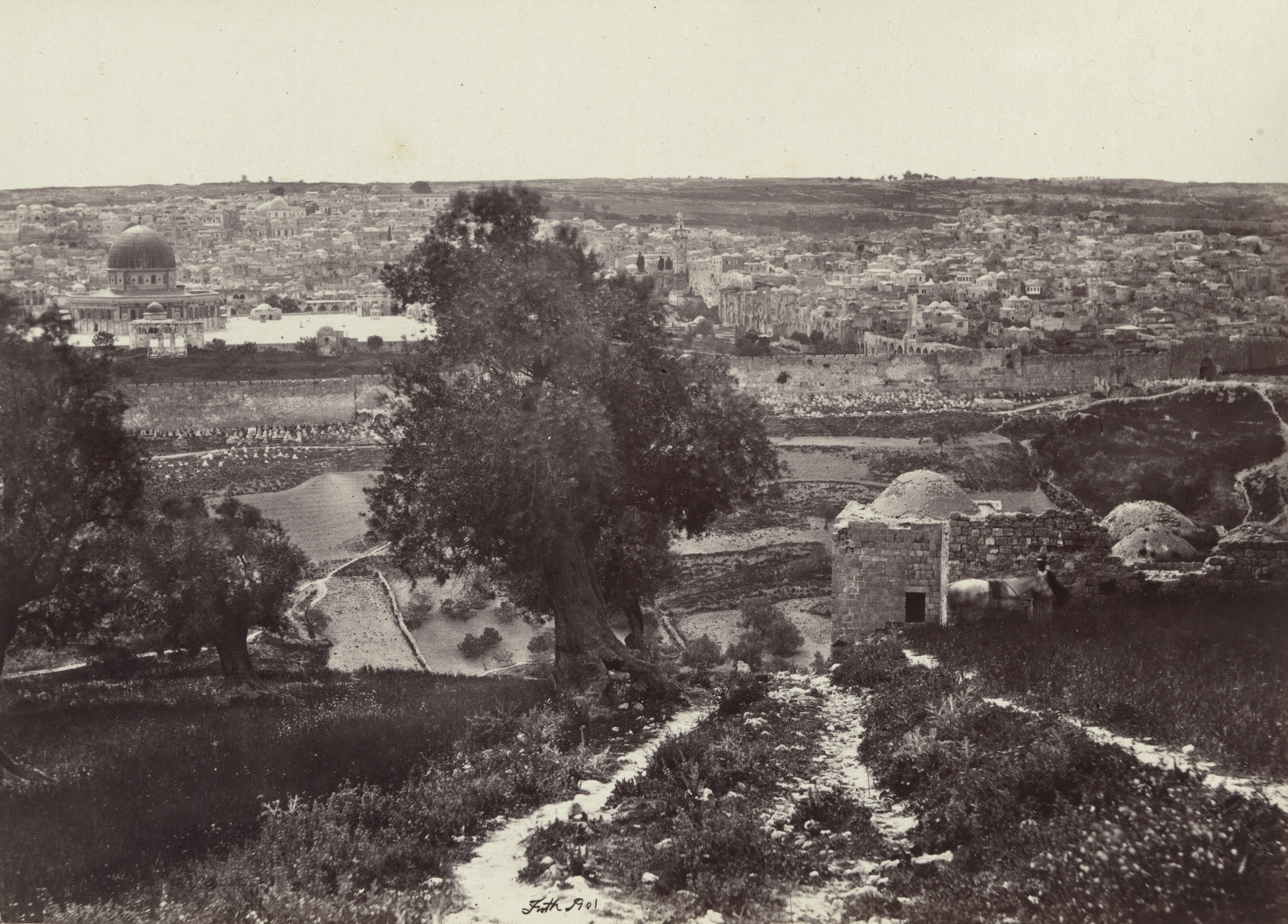 Francis Frith. Jerusalem from The Mount of Olives (Plate 16). 1858-60