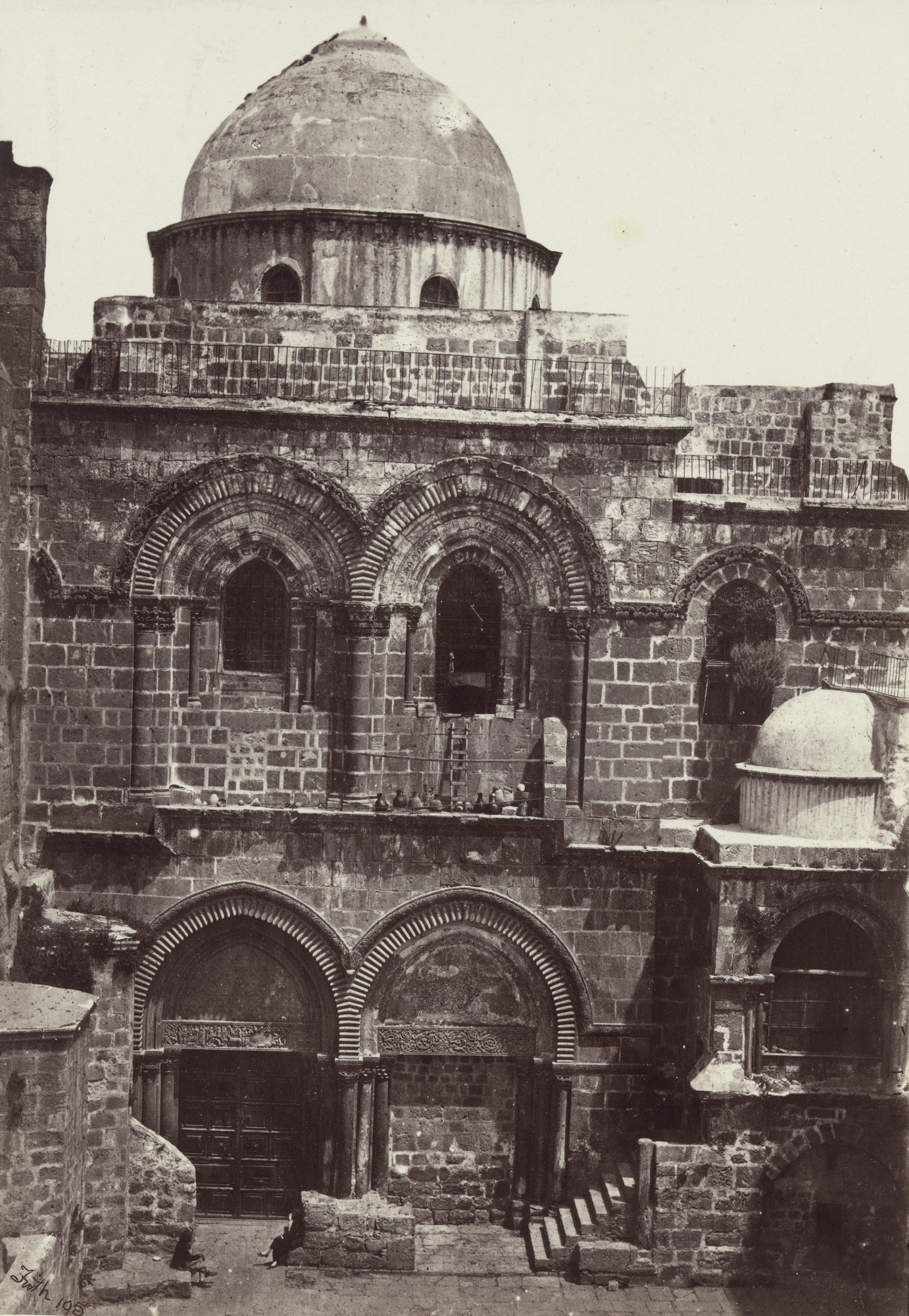 Francis Frith. Entrance of the Church of the Holy Sepulchre, Jerusalem (Plate 17). 1858-60