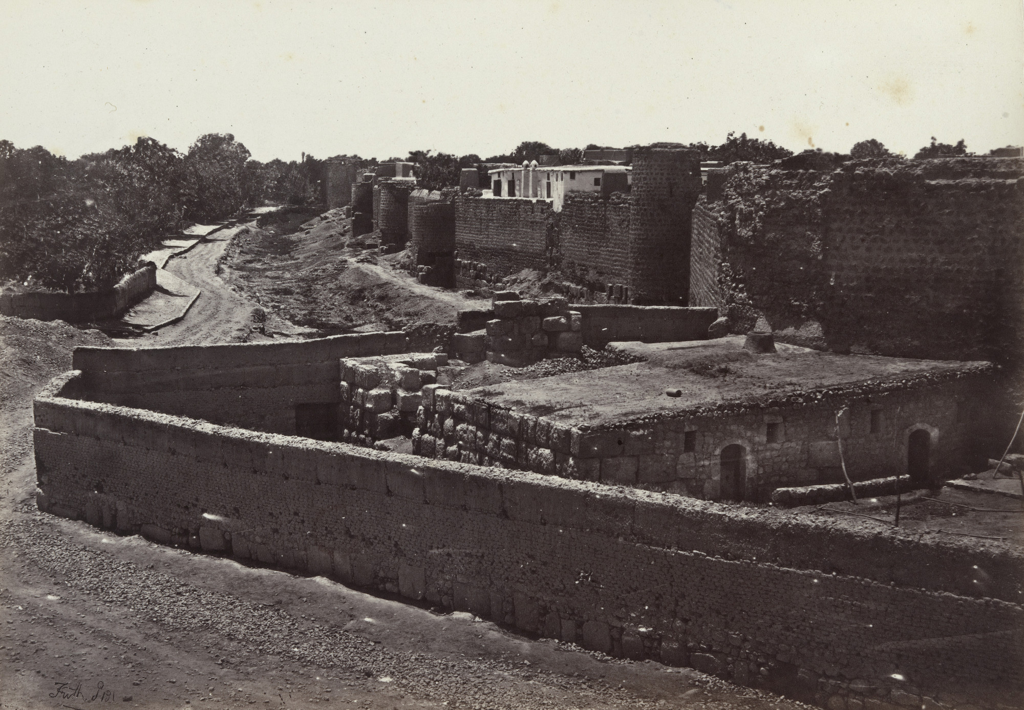 Francis Frith. St. Paul's Wall, Damascus (Plate 31). 1858-60