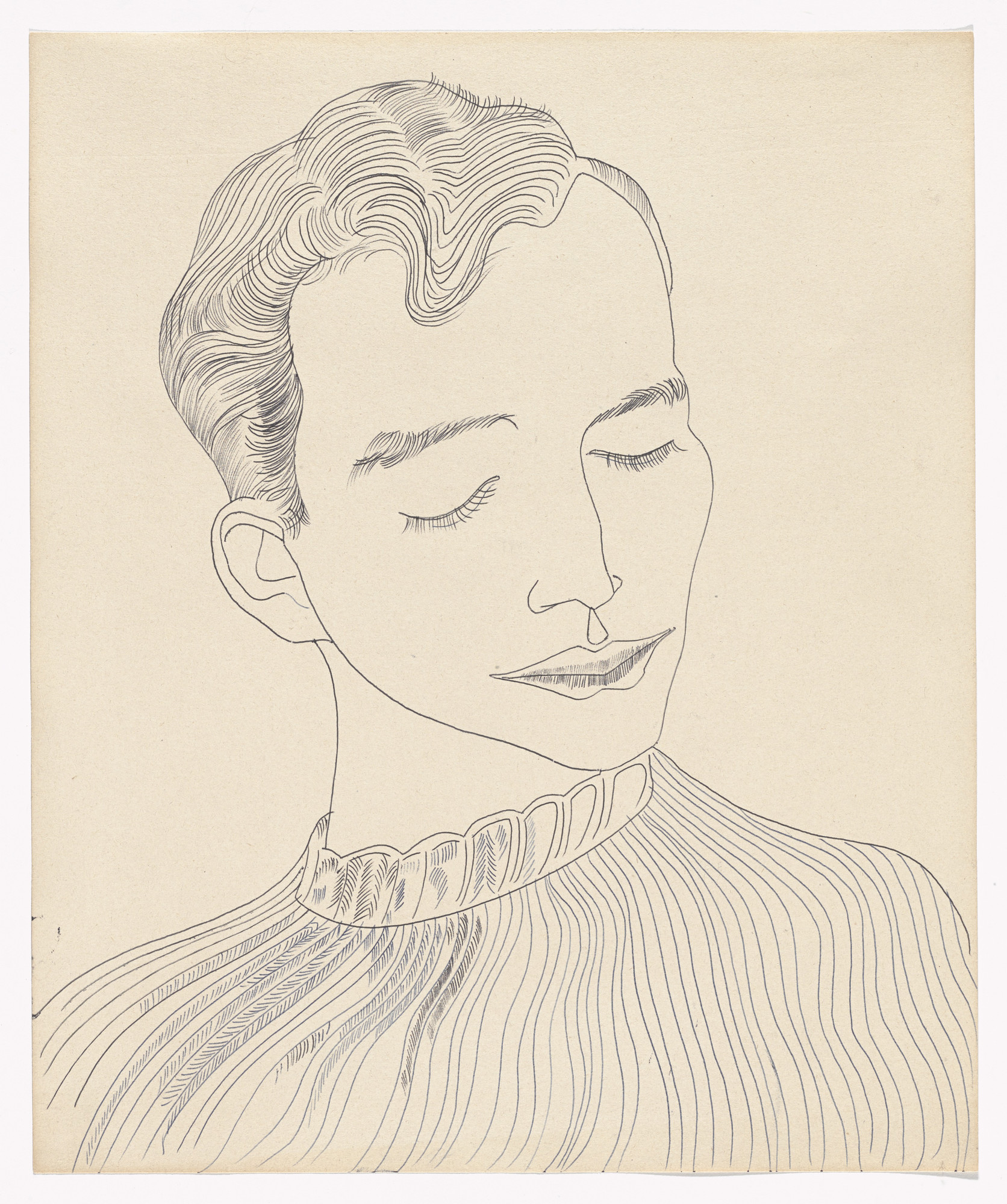 Andy Warhol. Untitled (Unknown Male). (c. 1957)