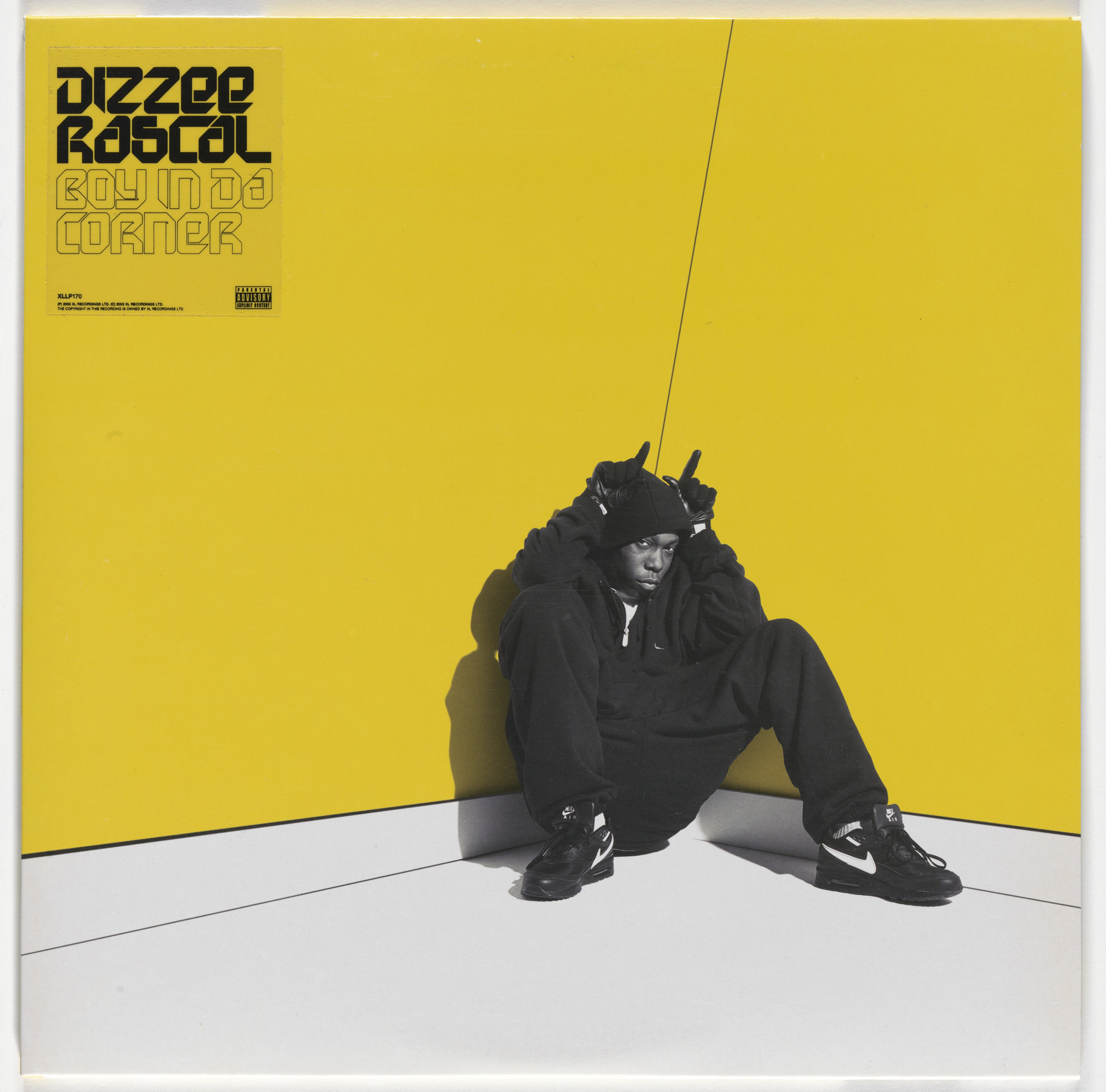 Ben Drury, Dean Chalkley. Album cover for Dizzee Rascal, Boy in Da Corner. 2003
