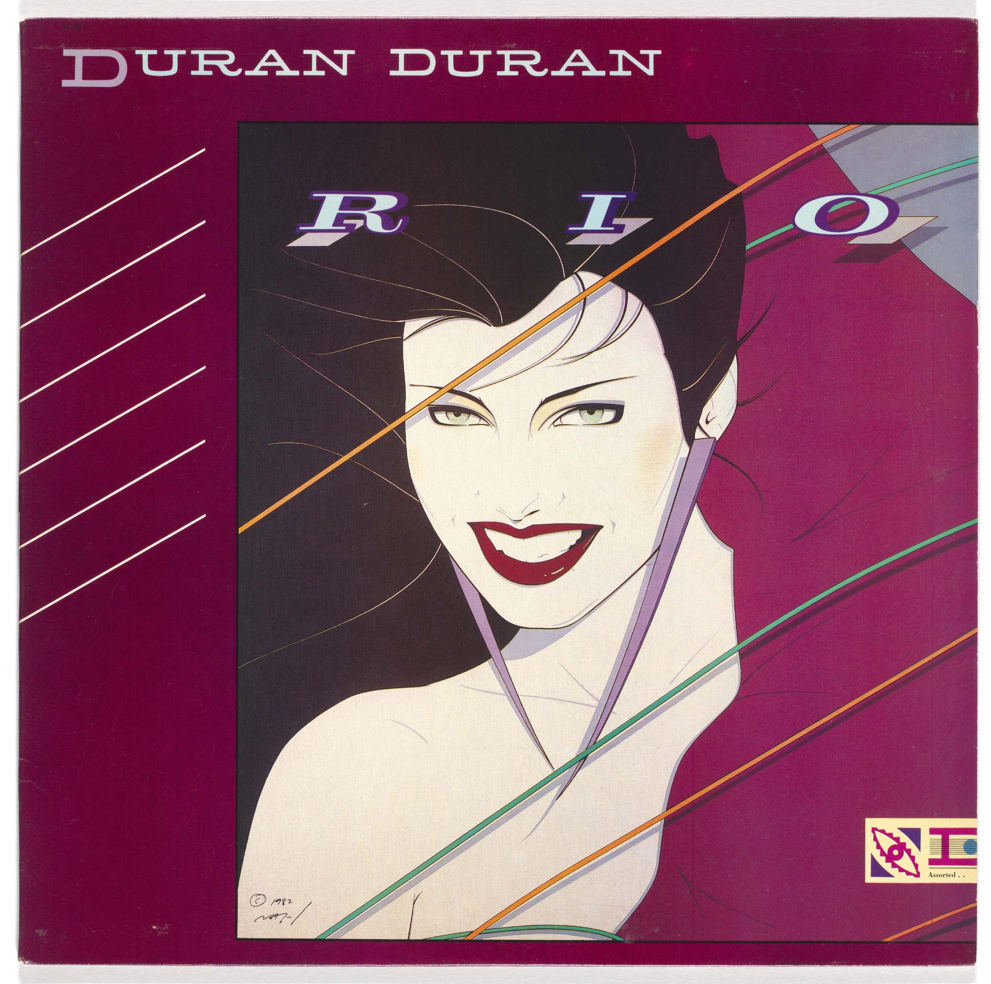 Malcolm Garrett, Patrick Nagel. Album cover for Duran Duran, Rio. 1982 | MoMA
