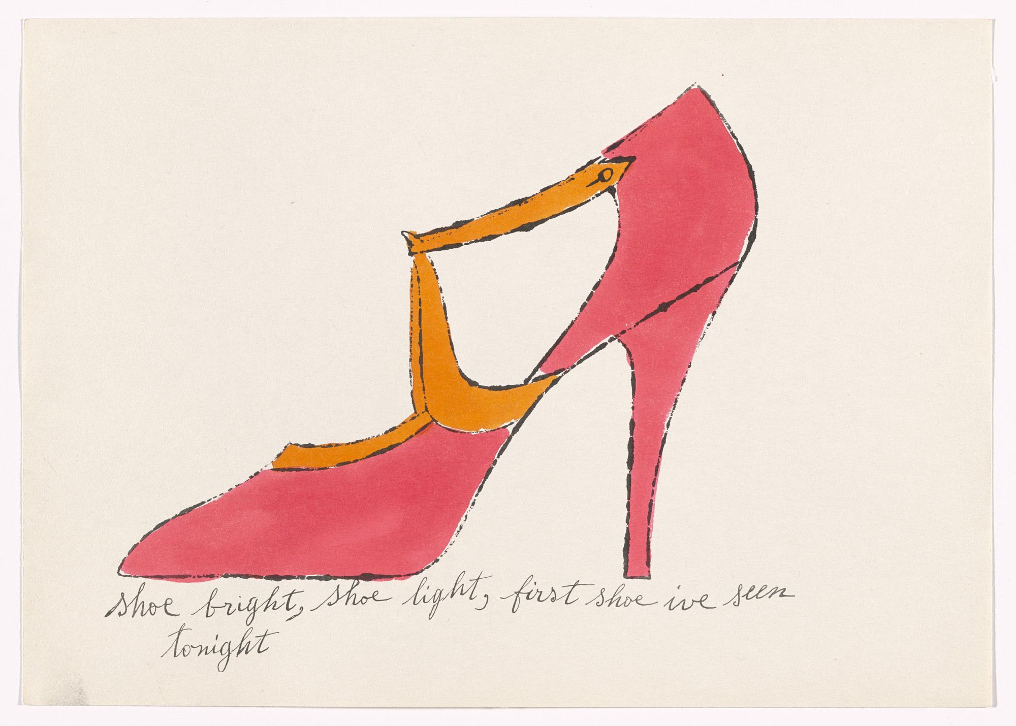 Andy Warhol. Untitled from À la recherche du shoe perdu. c. 1955