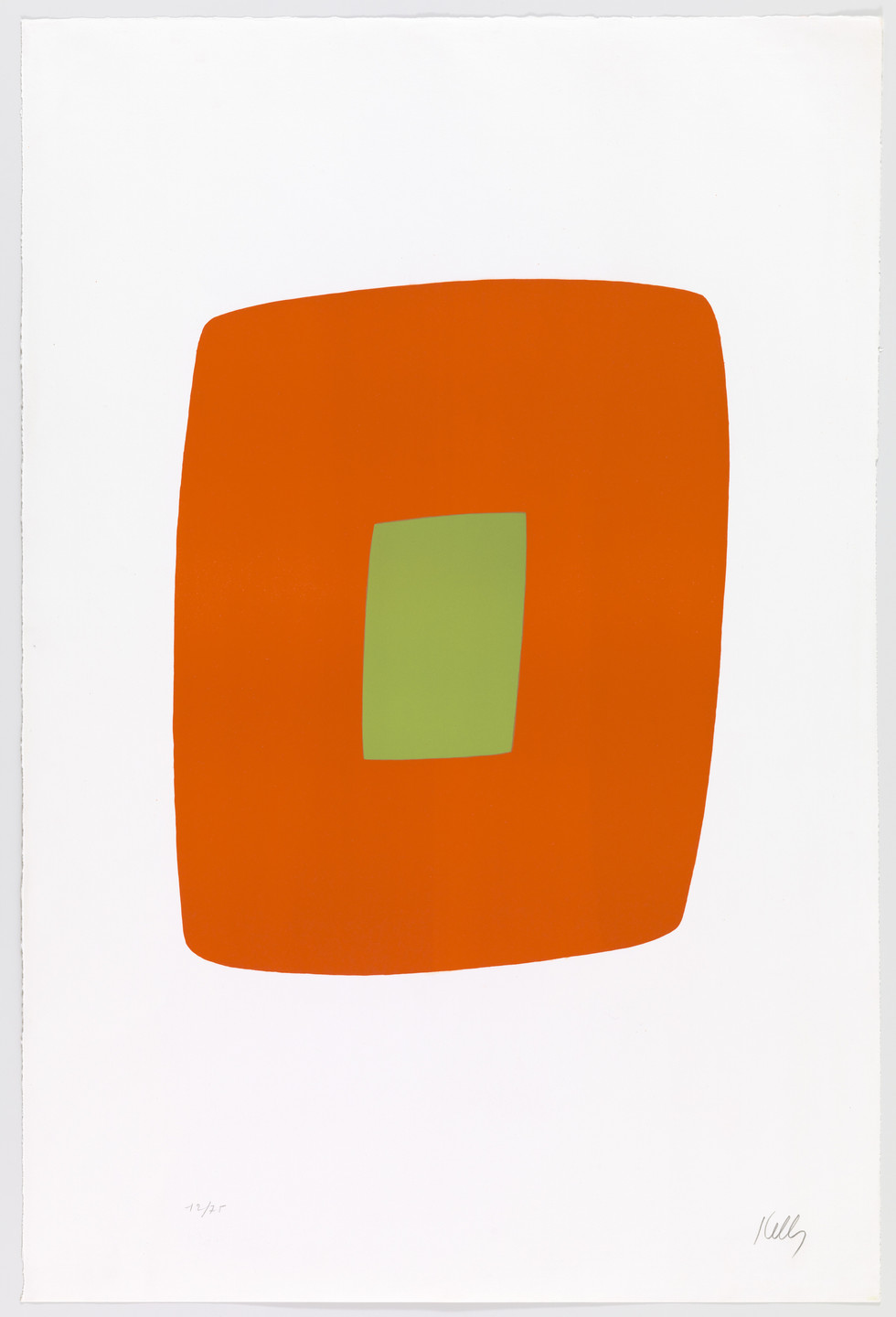 Ellsworth Kelly. Orange with Green (Orange avec vert) from Suite of Twenty-Seven Color Lithographs. 1964–65