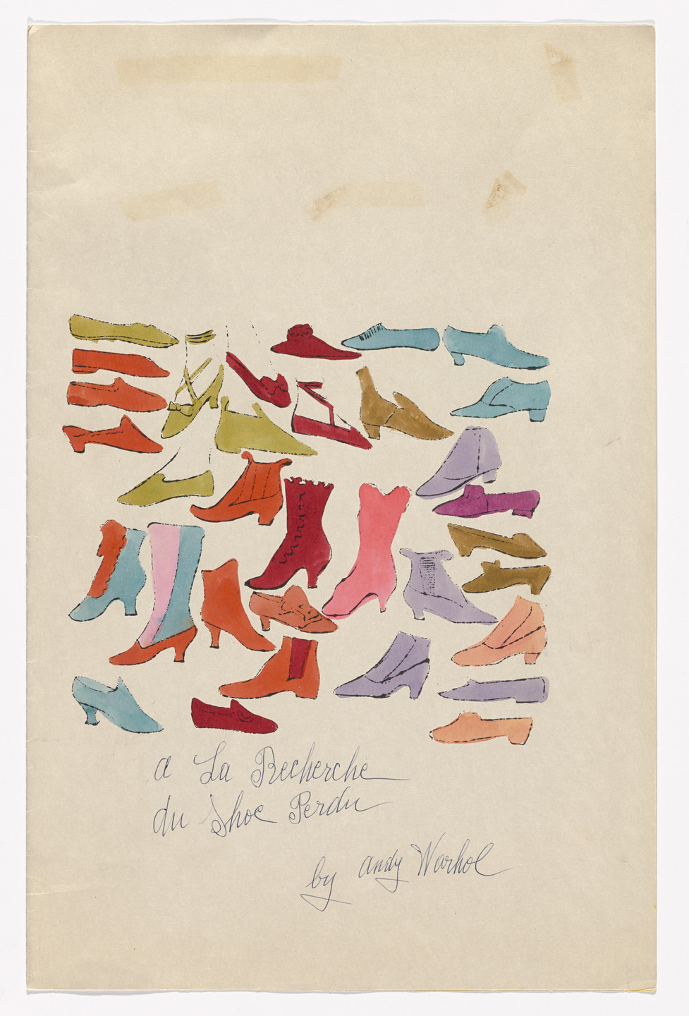 Andy Warhol. Cover from À la recherche du shoe perdu. c. 1955