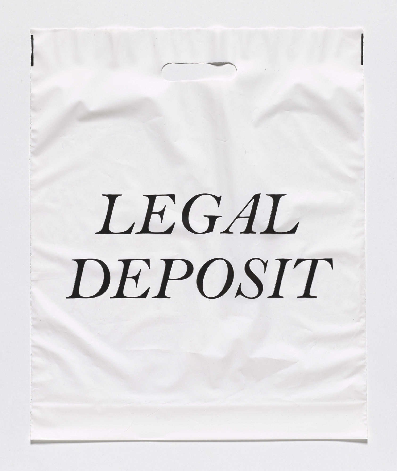 Fiona Banner. Legal Deposit Bag. 2010
