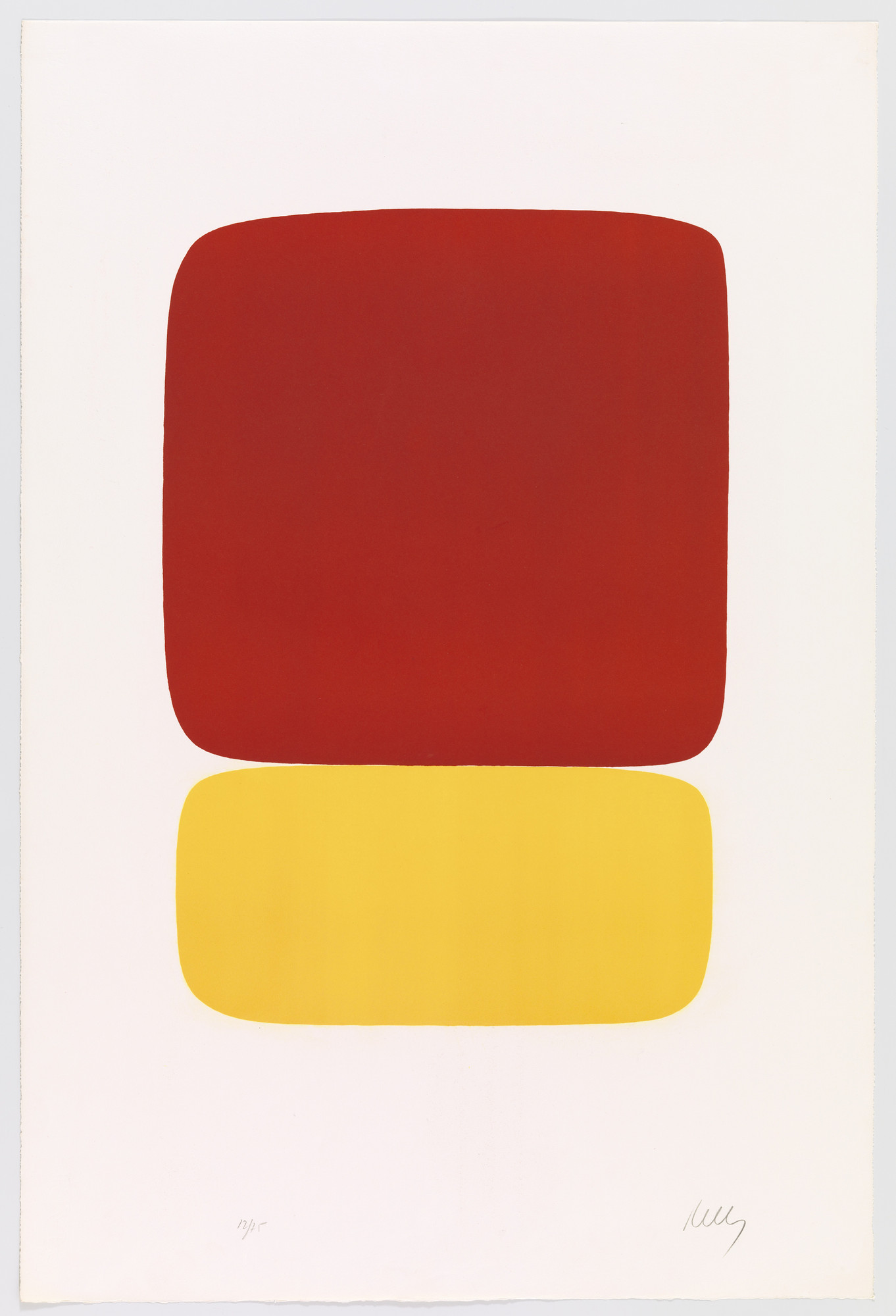Ellsworth Kelly. Red over Yellow (Rouge sur jaune) from Suite of Twenty-Seven Color Lithographs. 1964–65