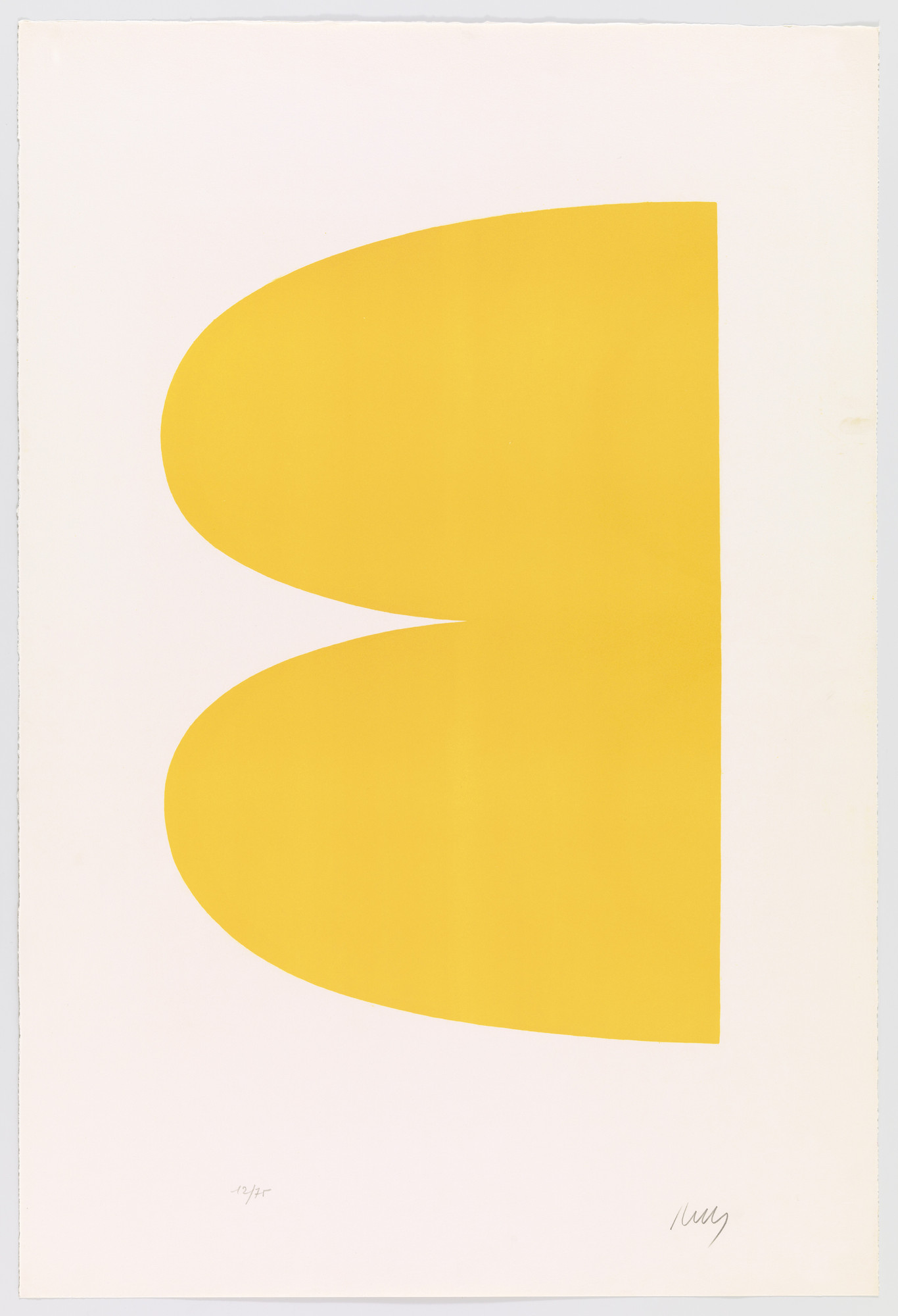 Ellsworth Kelly. Yellow (Jaune) from Suite of Twenty-Seven Color Lithographs. 1964–65