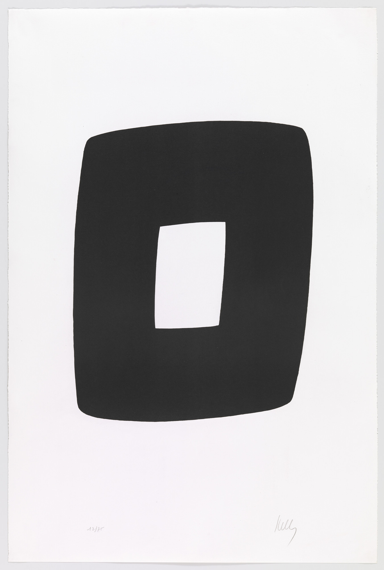 Ellsworth Kelly. Black with White (Noir avec blanc) from Suite of Twenty-Seven Color Lithographs. 1964–65