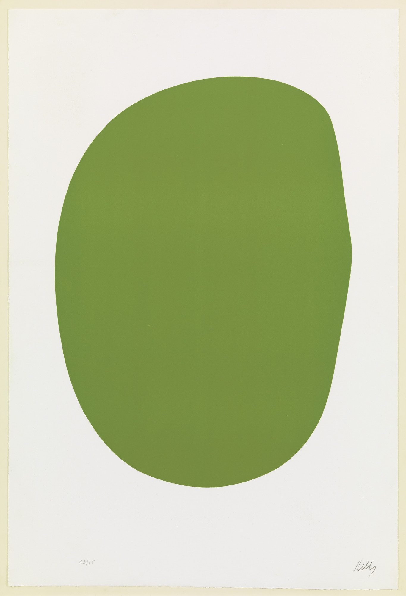Ellsworth Kelly. Green (Vert) from Suite of Twenty-Seven Color Lithographs. 1964–65