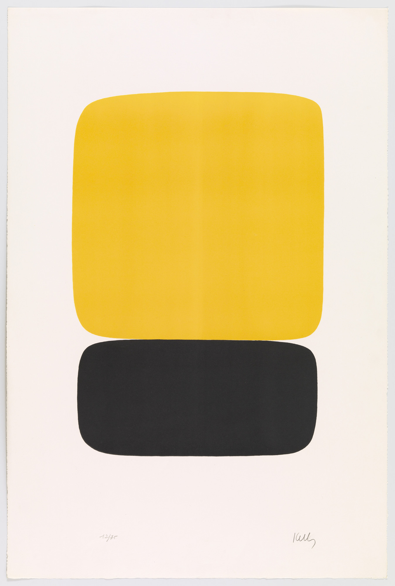 Ellsworth Kelly. Yellow over Black (Jaune sur noir) from Suite of Twenty-Seven Color Lithographs. 1964–65