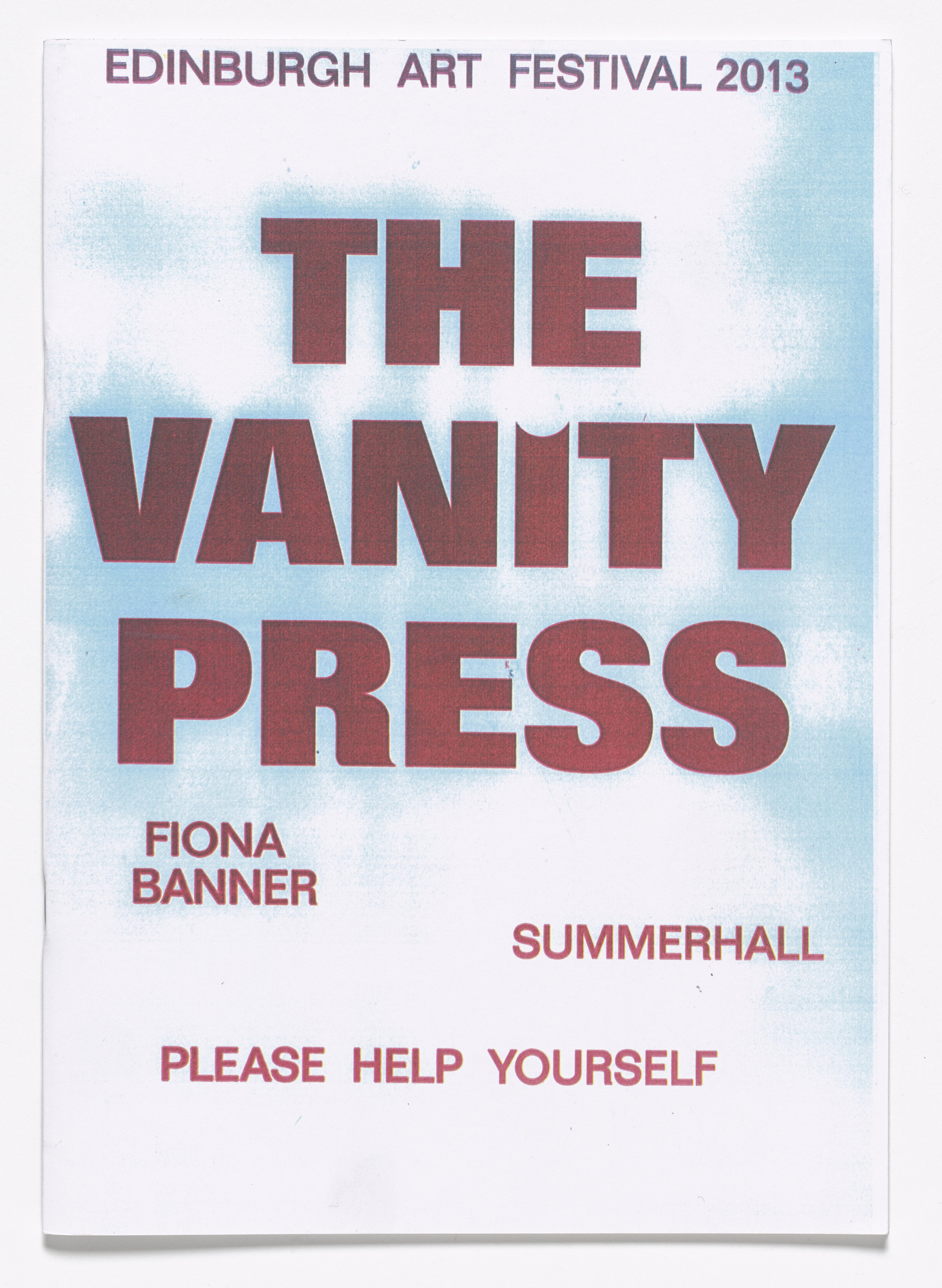 Fiona Banner. The Vanity Press. 2013