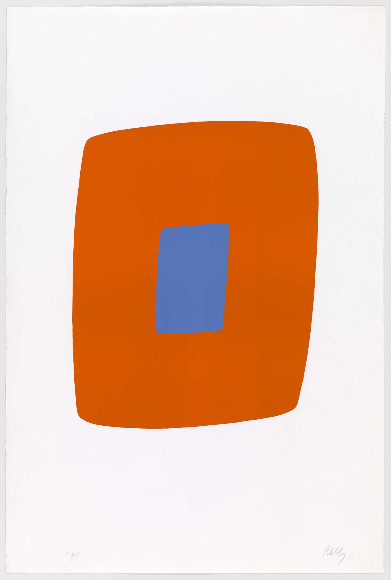 Ellsworth Kelly. Orange with Blue (Orange avec bleu) from Suite of Twenty-Seven Color Lithographs. 1964–65