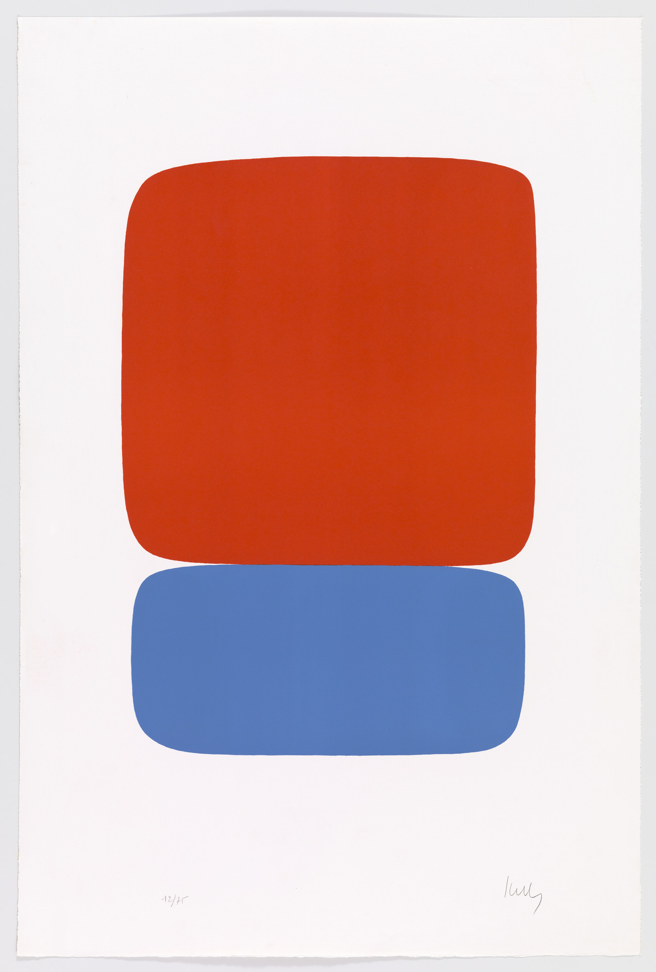 Ellsworth Kelly. Red-Orange over Blue (Rouge-orange sur bleu) from Suite of Twenty-Seven Color Lithographs. 1964–65