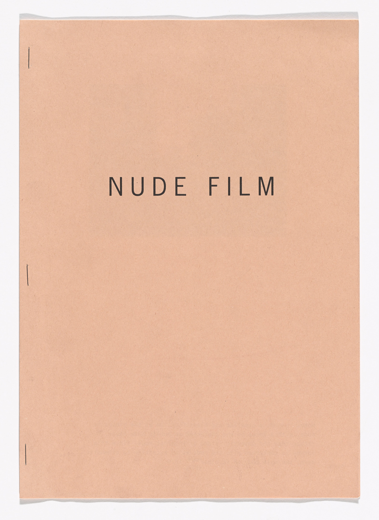 Fiona Banner. Nude Film. 2011