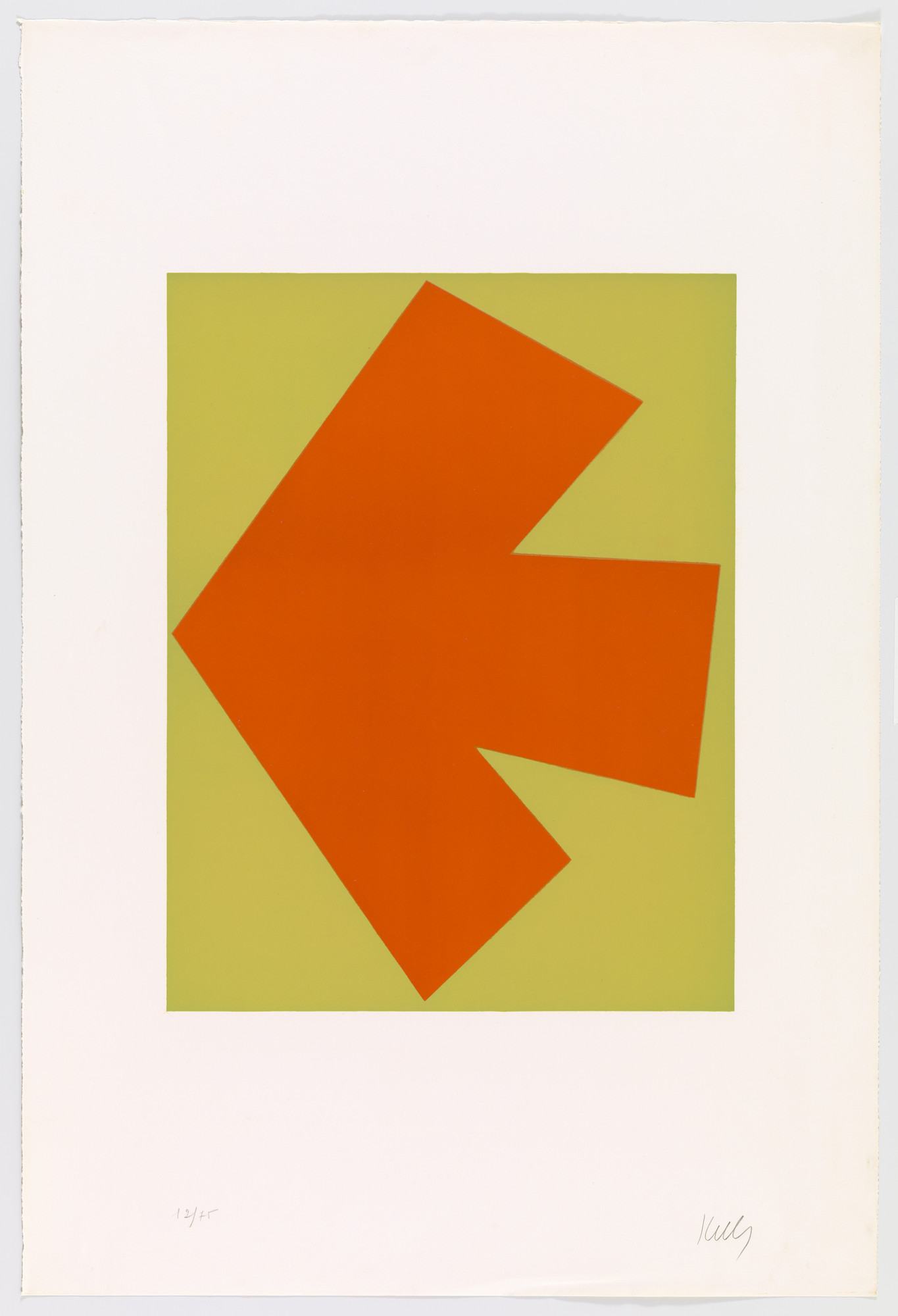 Ellsworth Kelly. Orange over Green (Orange sur vert) from Suite of Twenty-Seven Color Lithographs. 1964–65