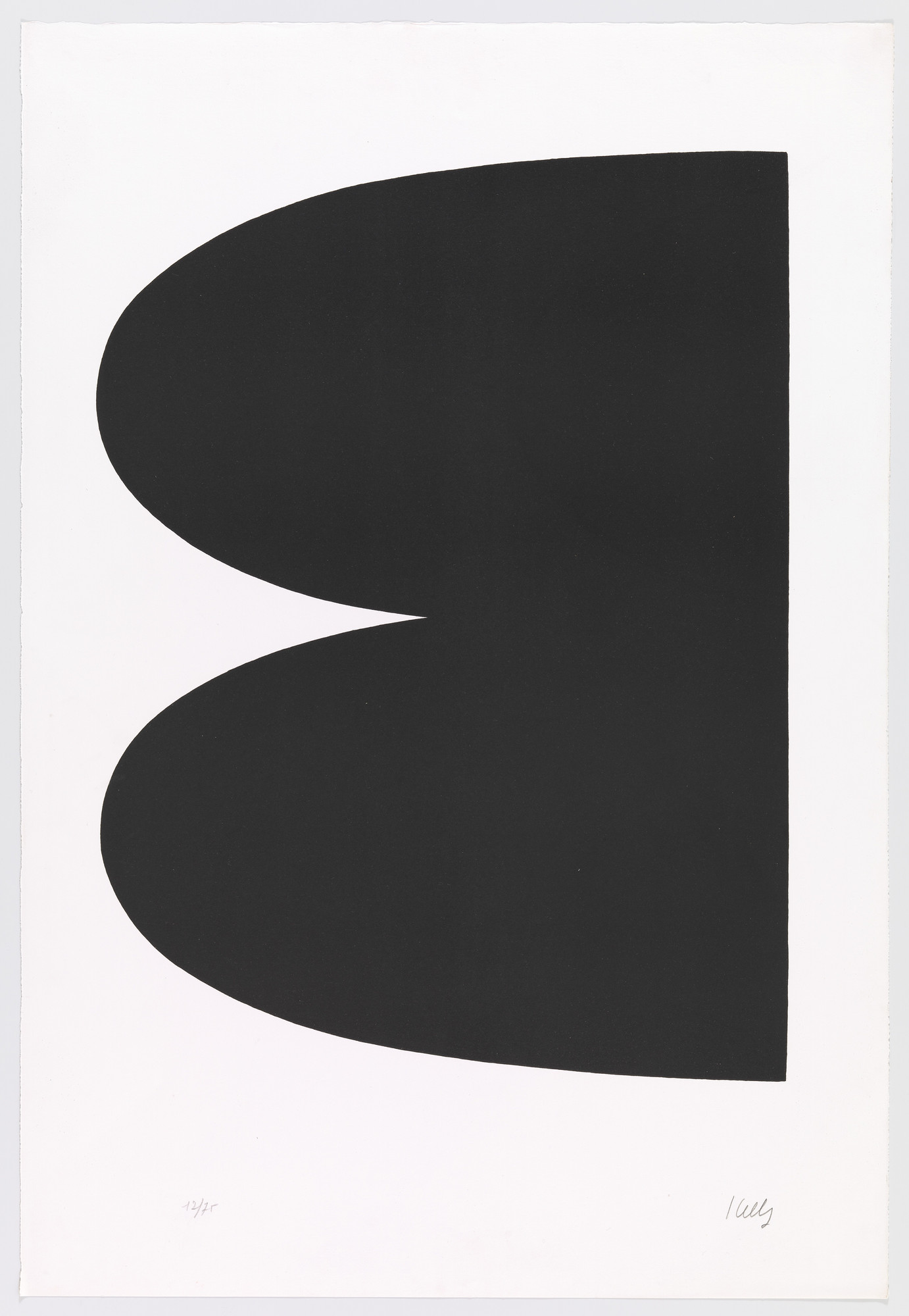 Ellsworth Kelly. Black (Noir) from Suite of Twenty-Seven Color Lithographs. 1964–65