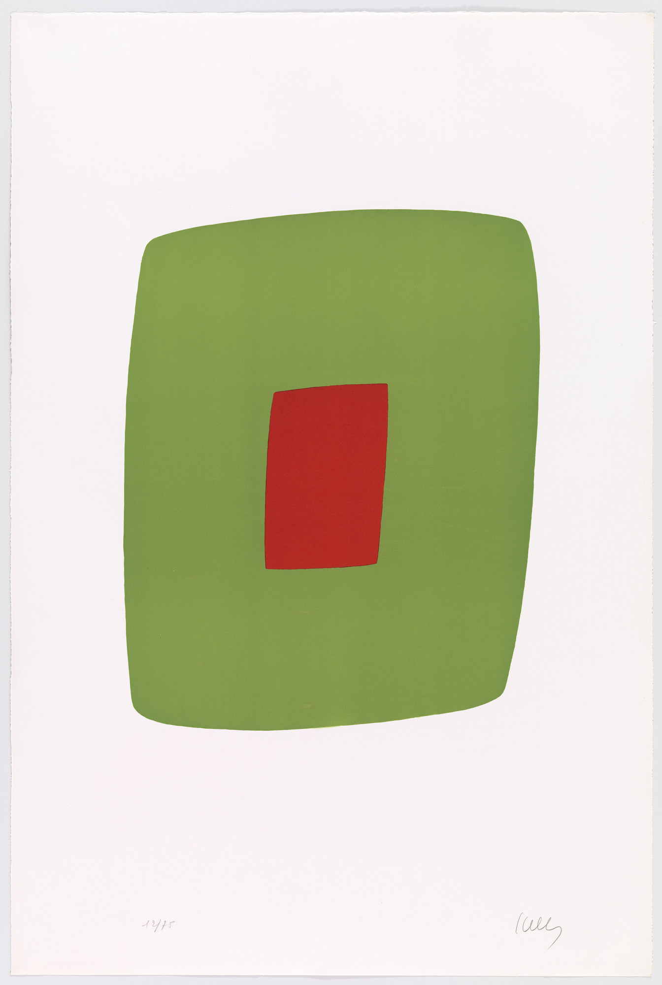 Ellsworth Kelly. Green with Red (Vert avec rouge) from Suite of Twenty-Seven Color Lithographs. 1964–65