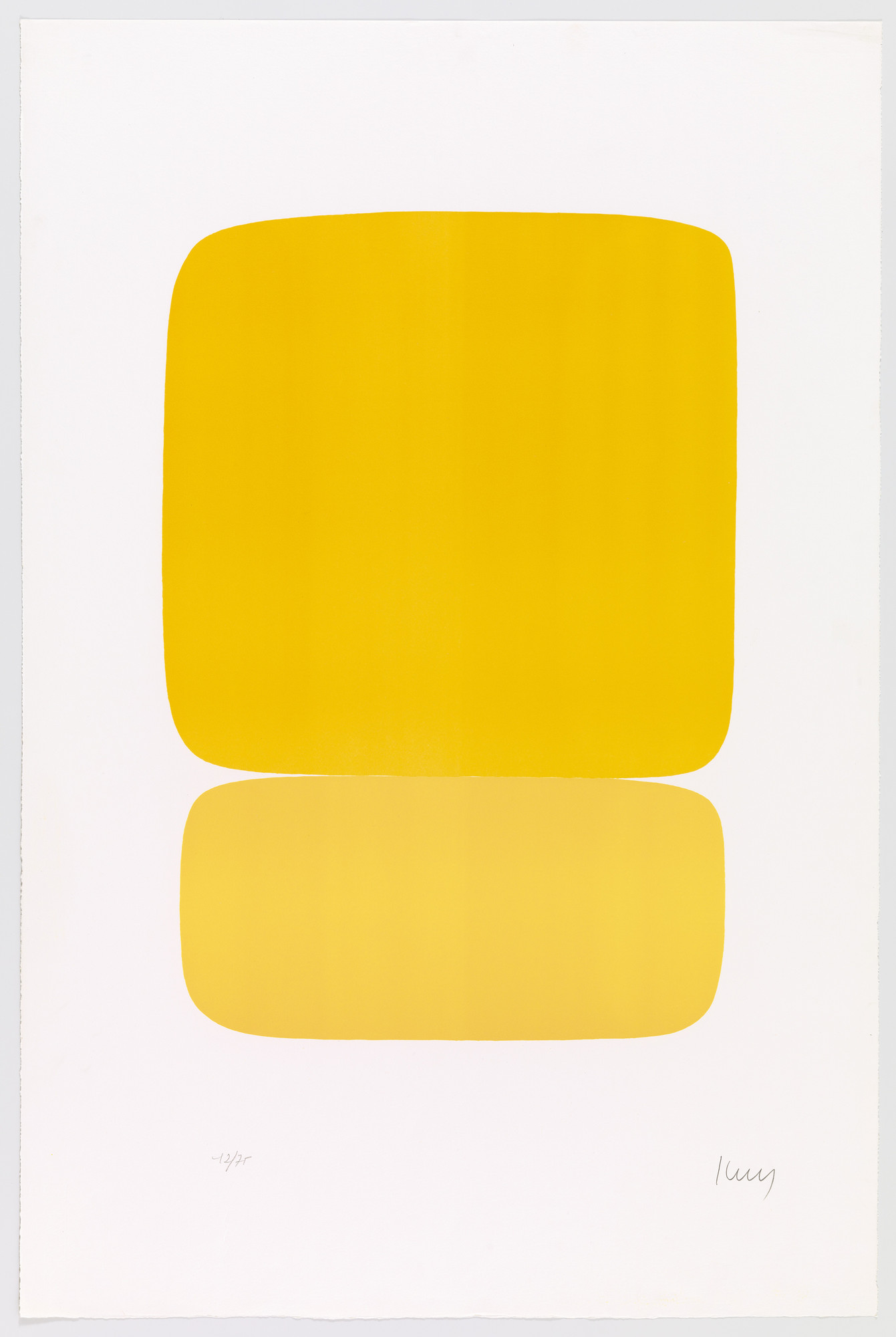 Ellsworth Kelly. Yellow over Yellow (Jaune sur jaune) from Suite of Twenty-Seven Color Lithographs. 1964–65