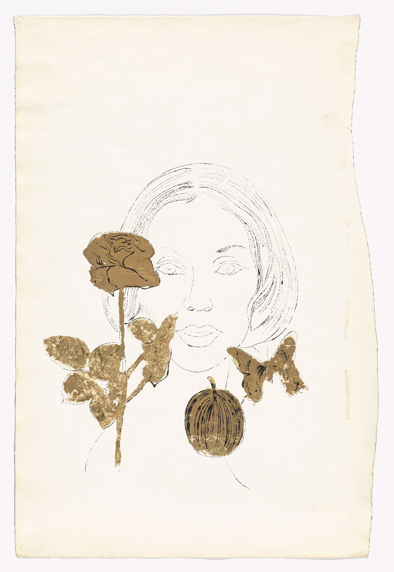 Andy Warhol. Unknown Female. (c. 1957)