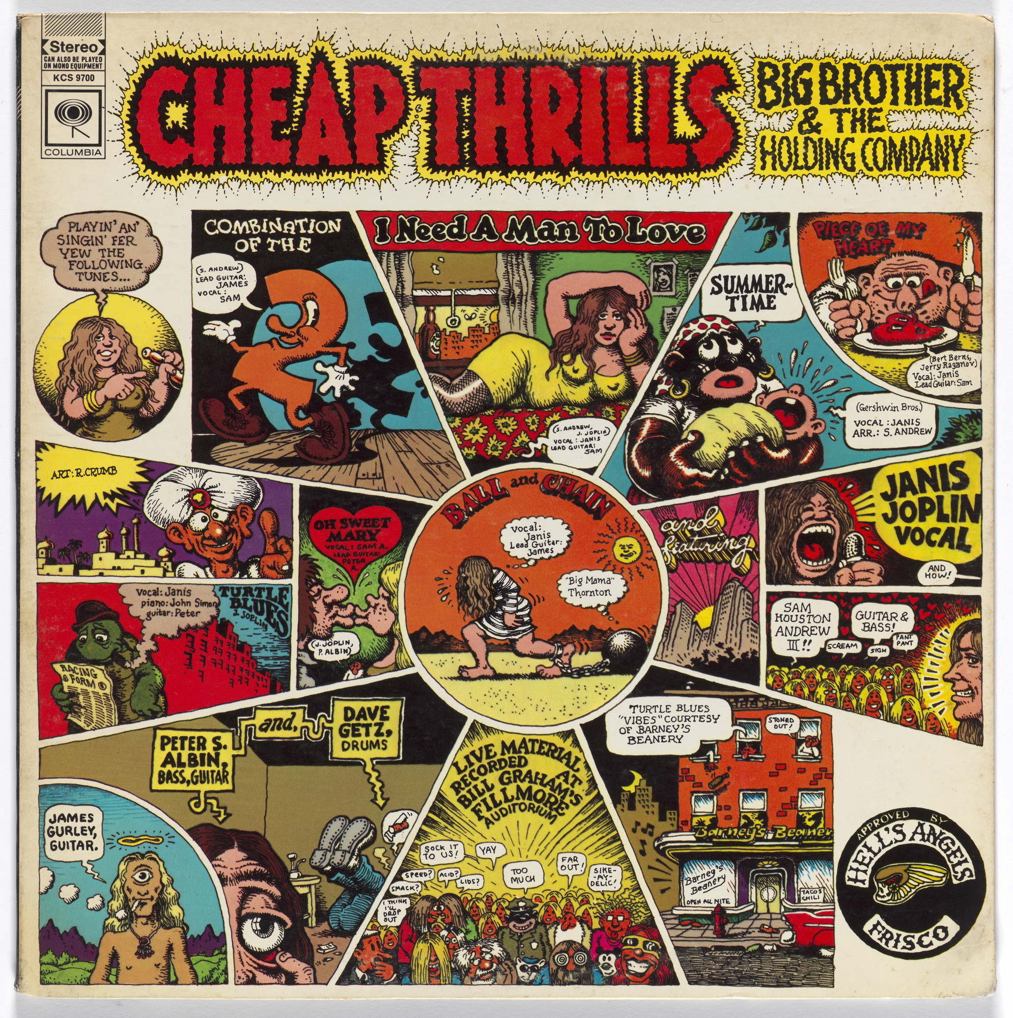 R. Crumb. Album cover for Big Brother and the Holding Company, Cheap Thrills. 1968