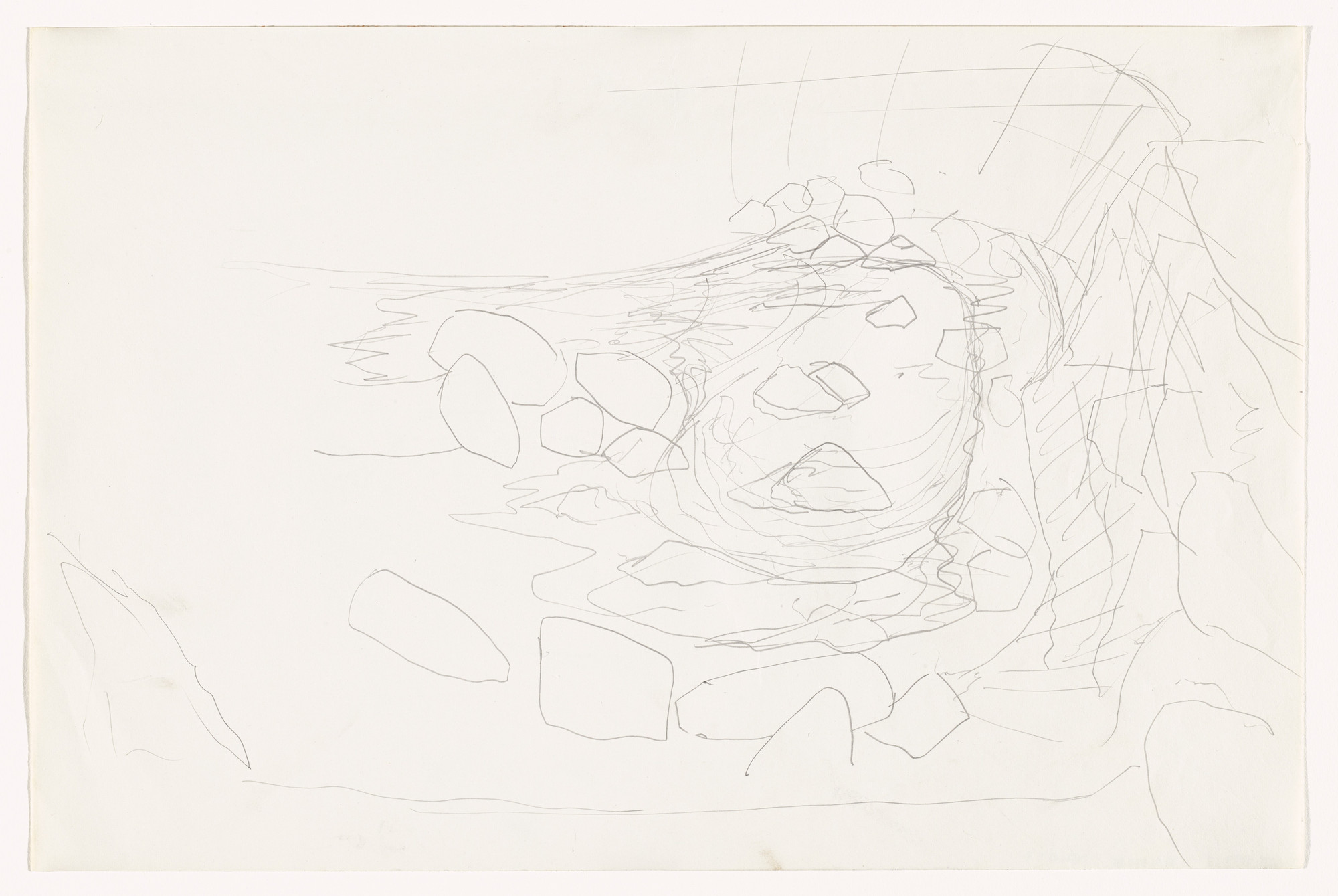 Robert Smithson. Sketch for Quarry Project: Texas Overflow. (1968)