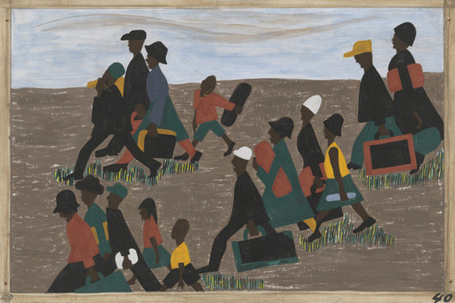Jacob Lawrence. The migrants arrived in great numbers. 1940-41
