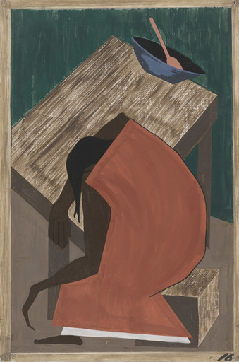 Jacob Lawrence. Although the Negro was used to lynching, he found this an opportune time for him to leave where one had occurred. 1940-41