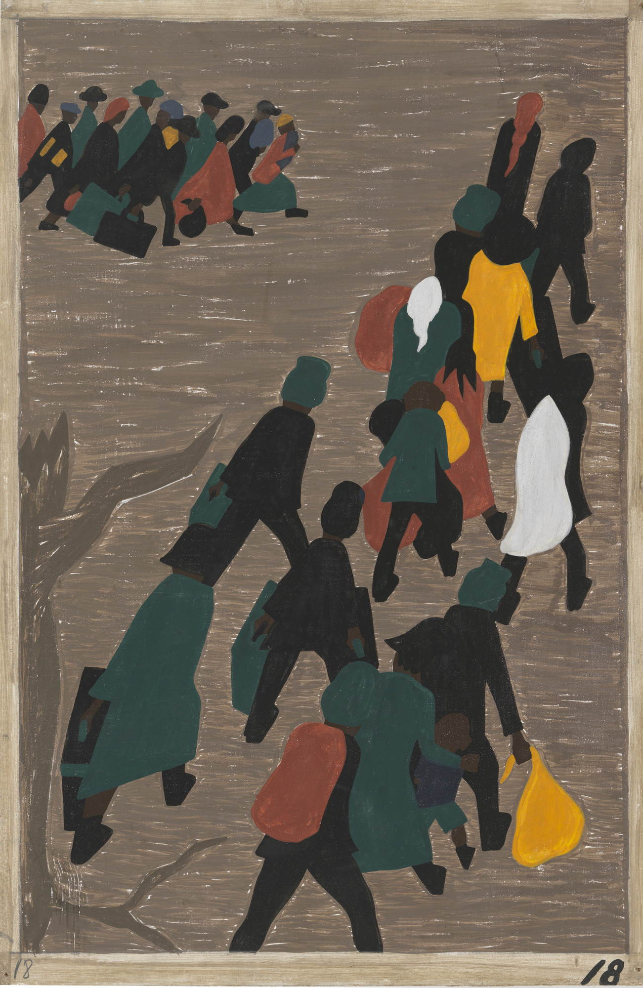 Jacob Lawrence. The migration gained in momentum. 1940-41