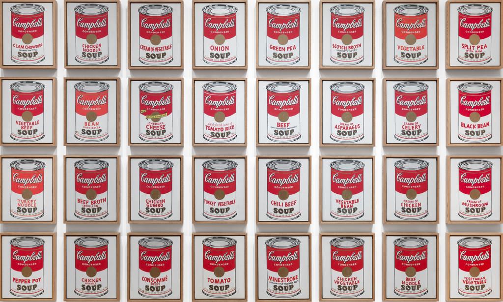 campbells soup cans warhol