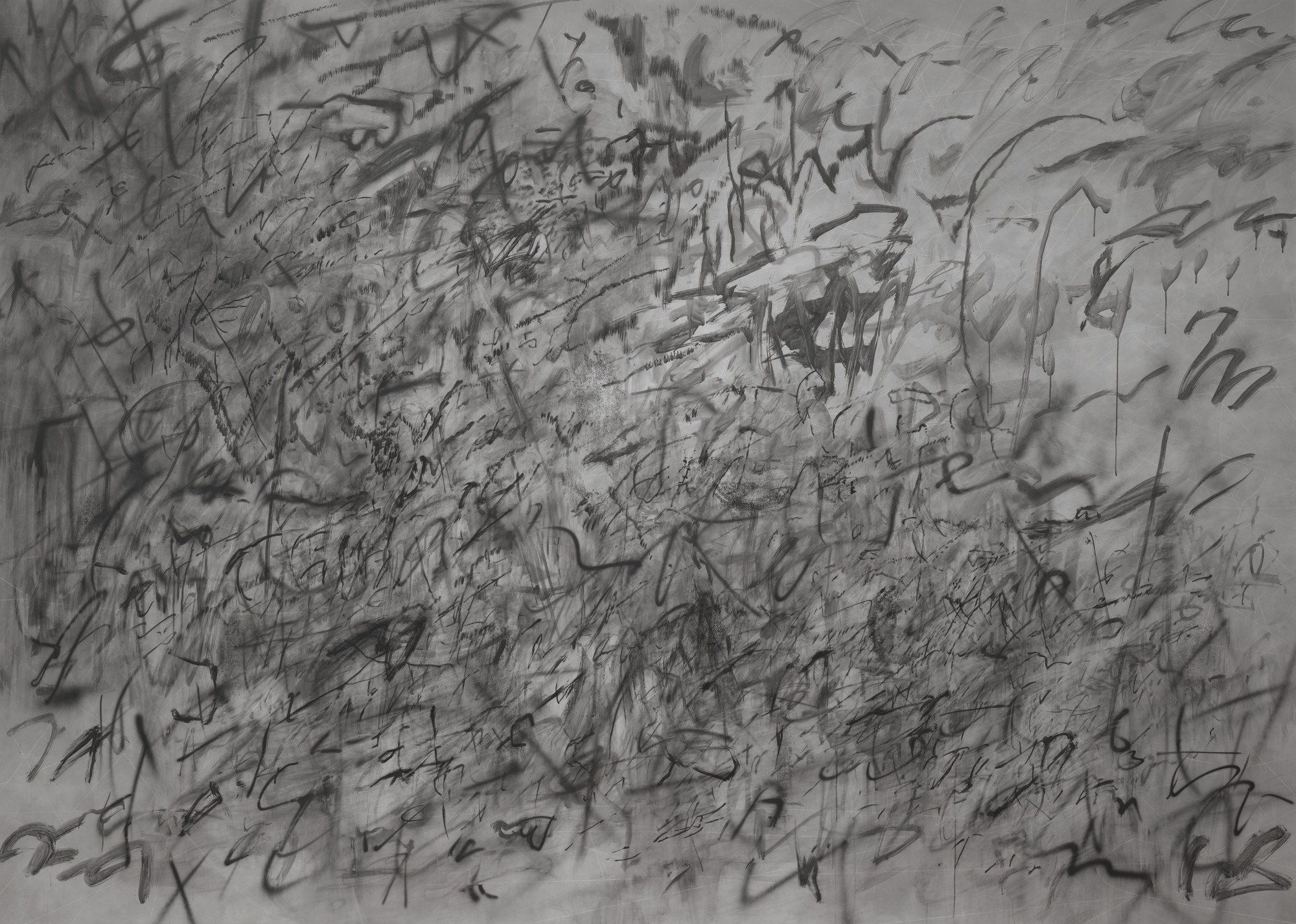 Julie Mehretu. Invisible Sun (algorithm 5, second letter form). 2014