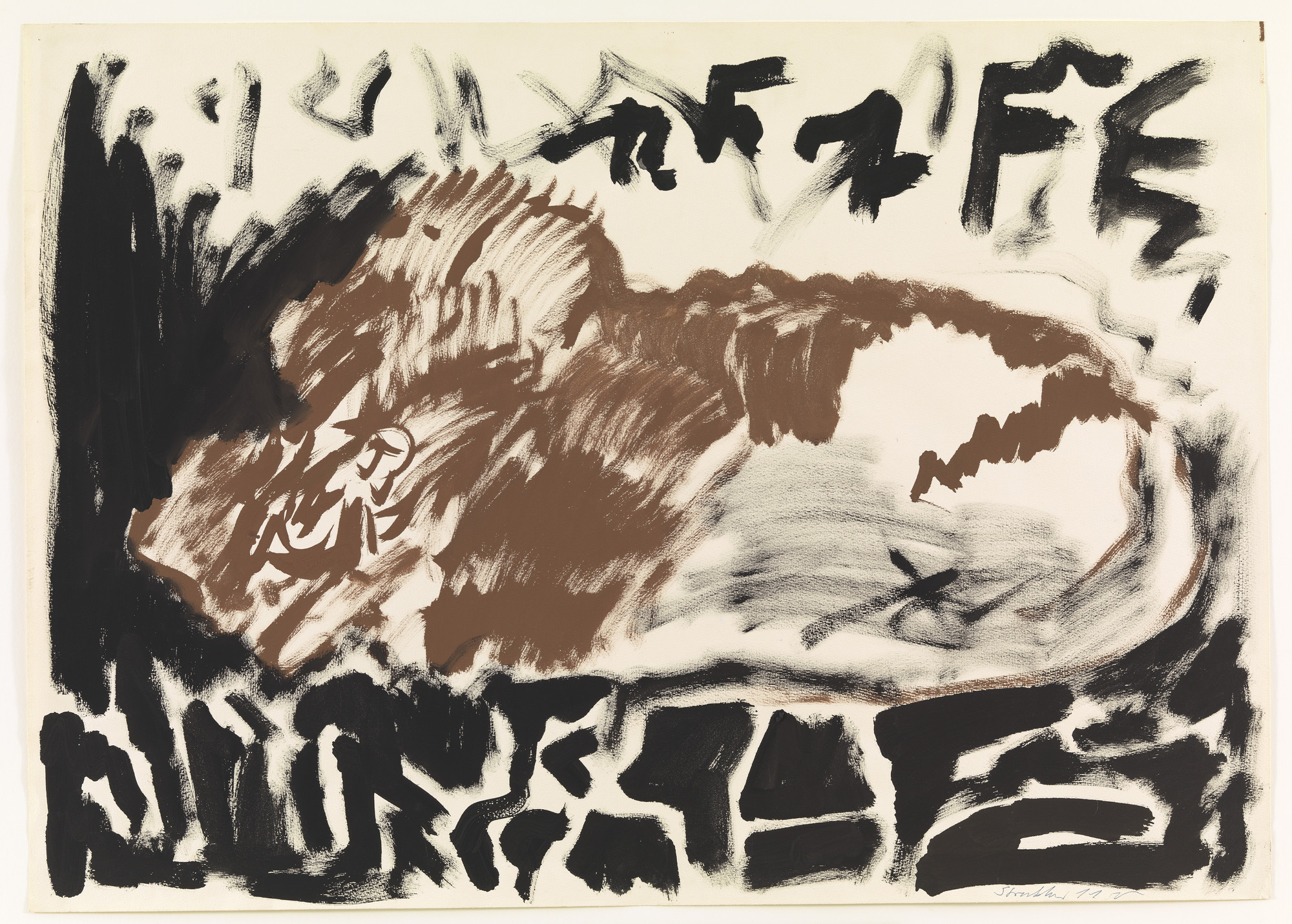 A.R. Penck (Ralf Winkler). Structure T.M.. (1976)