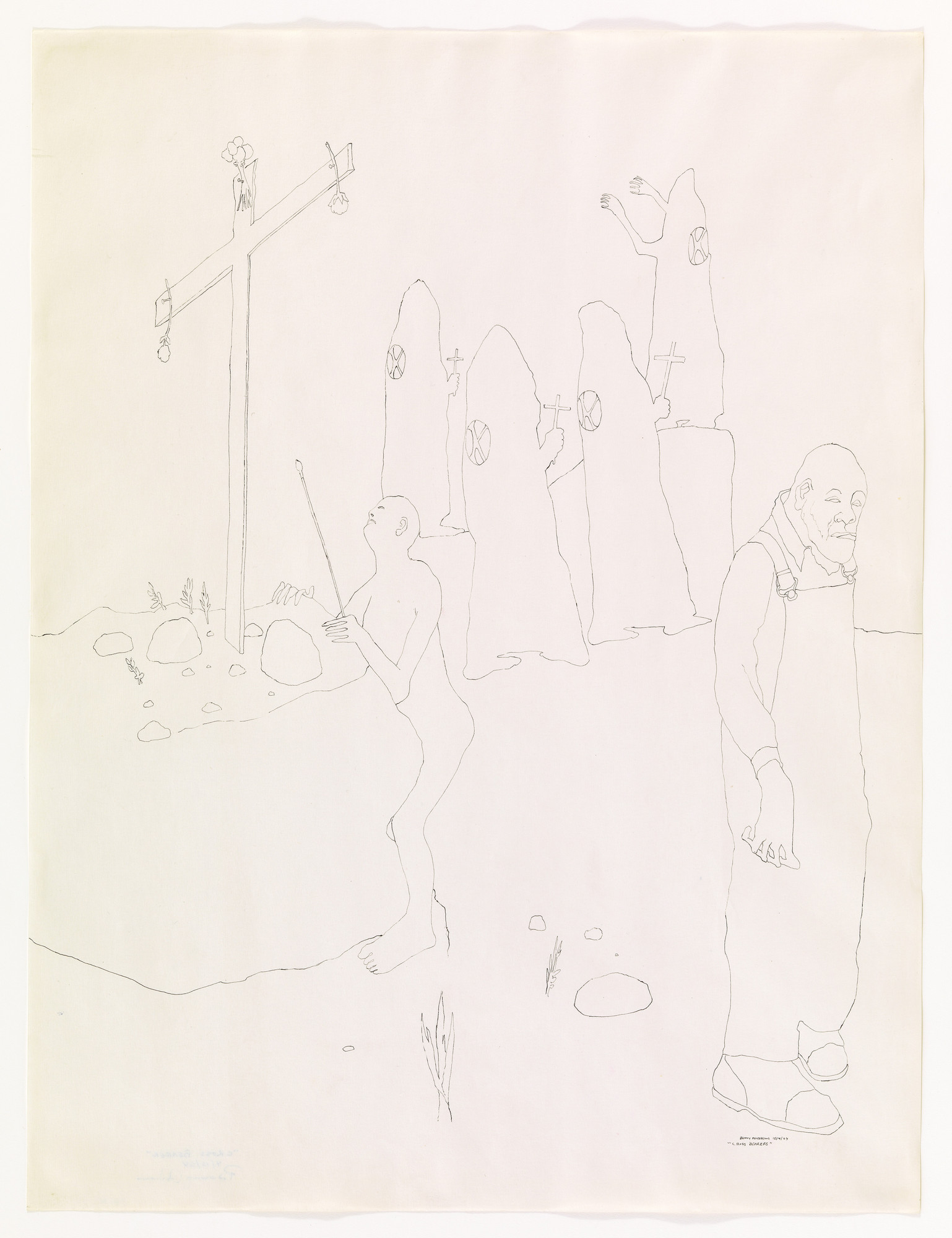 Benny Andrews. Cross Bearers. 1964