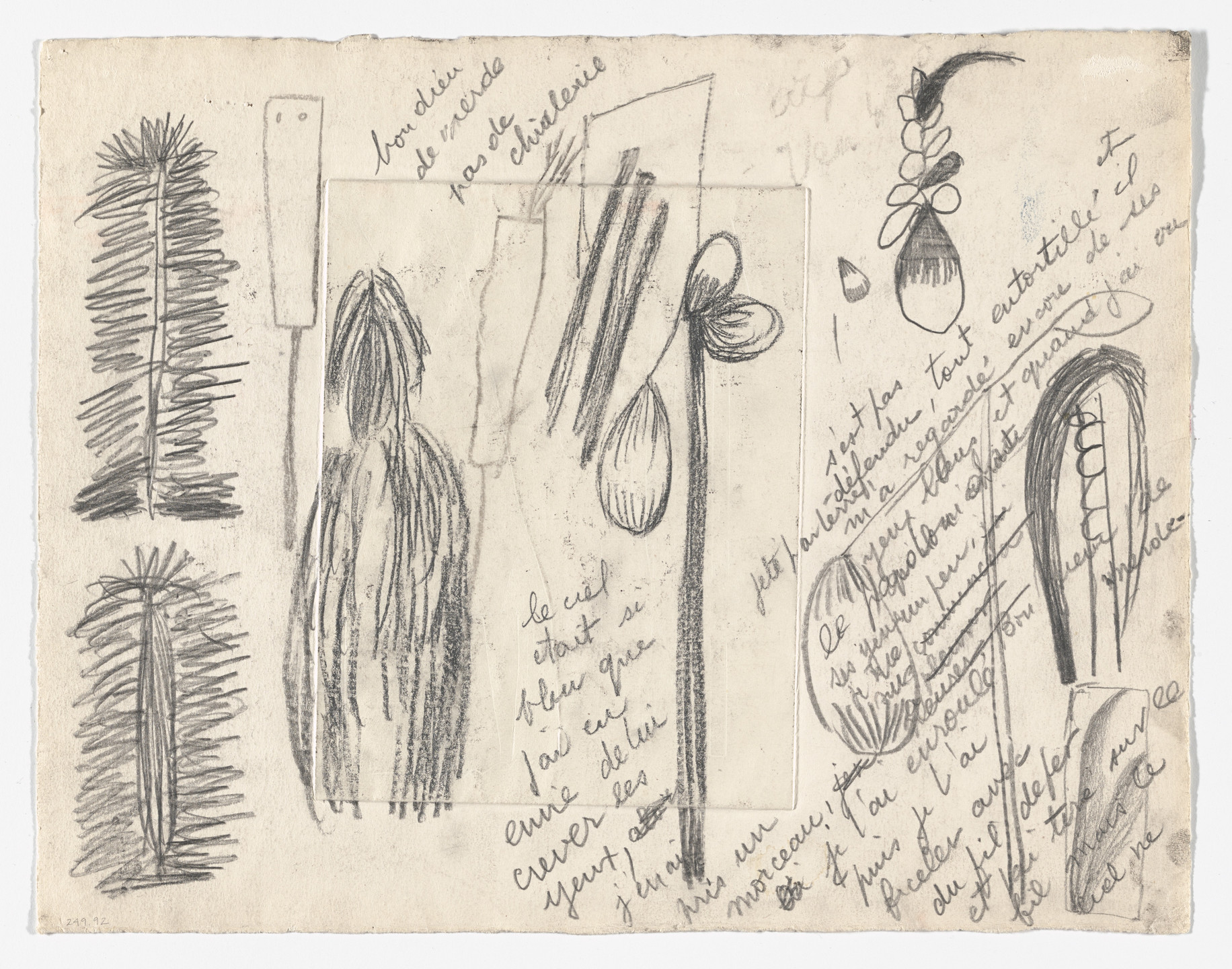 Louise Bourgeois. Untitled (verso of Famille). 1947-1949