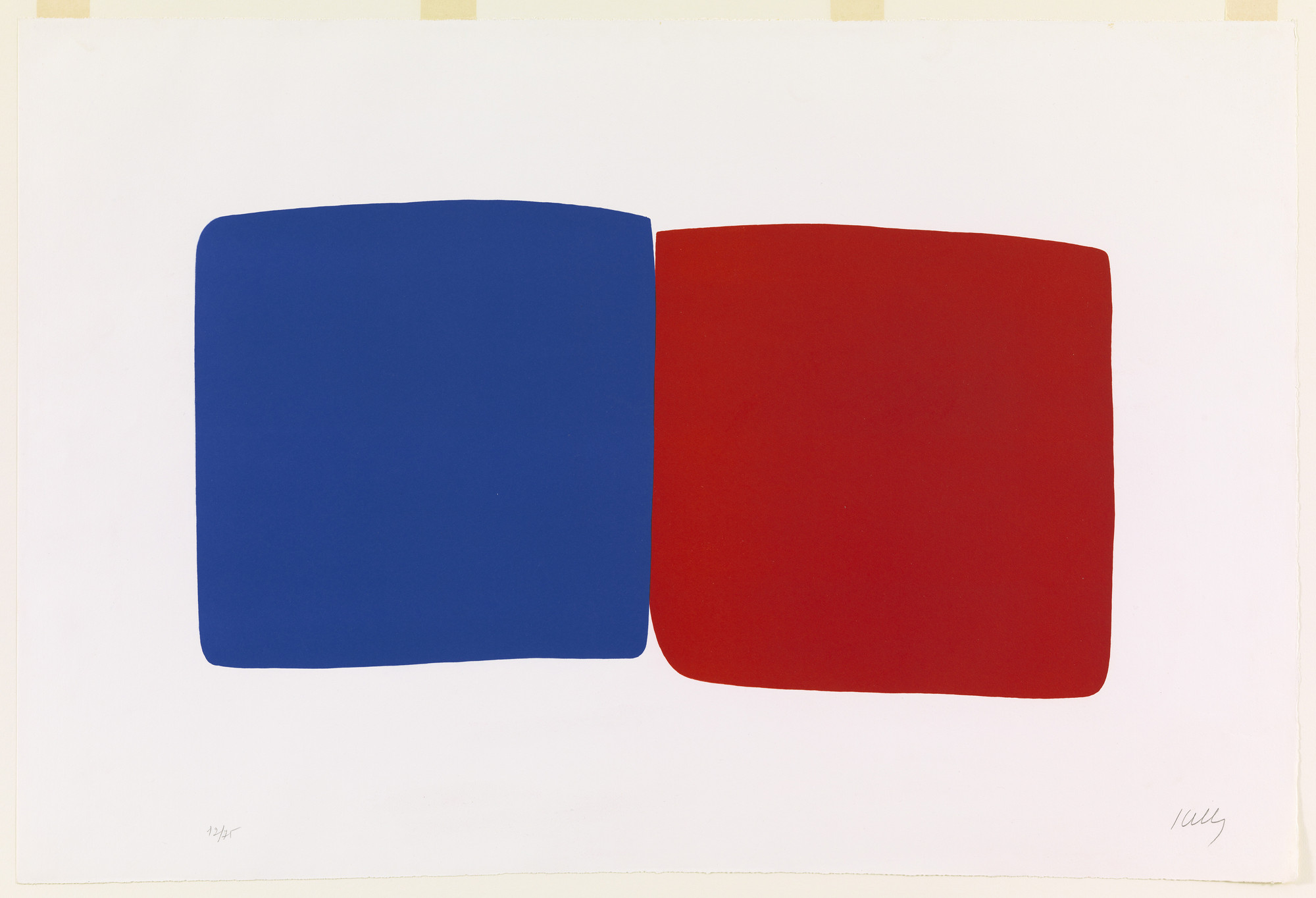 Ellsworth Kelly. Dark Blue and Red (Bleu foncé et rouge) from Suite of Twenty-Seven Color Lithographs. 1964–65