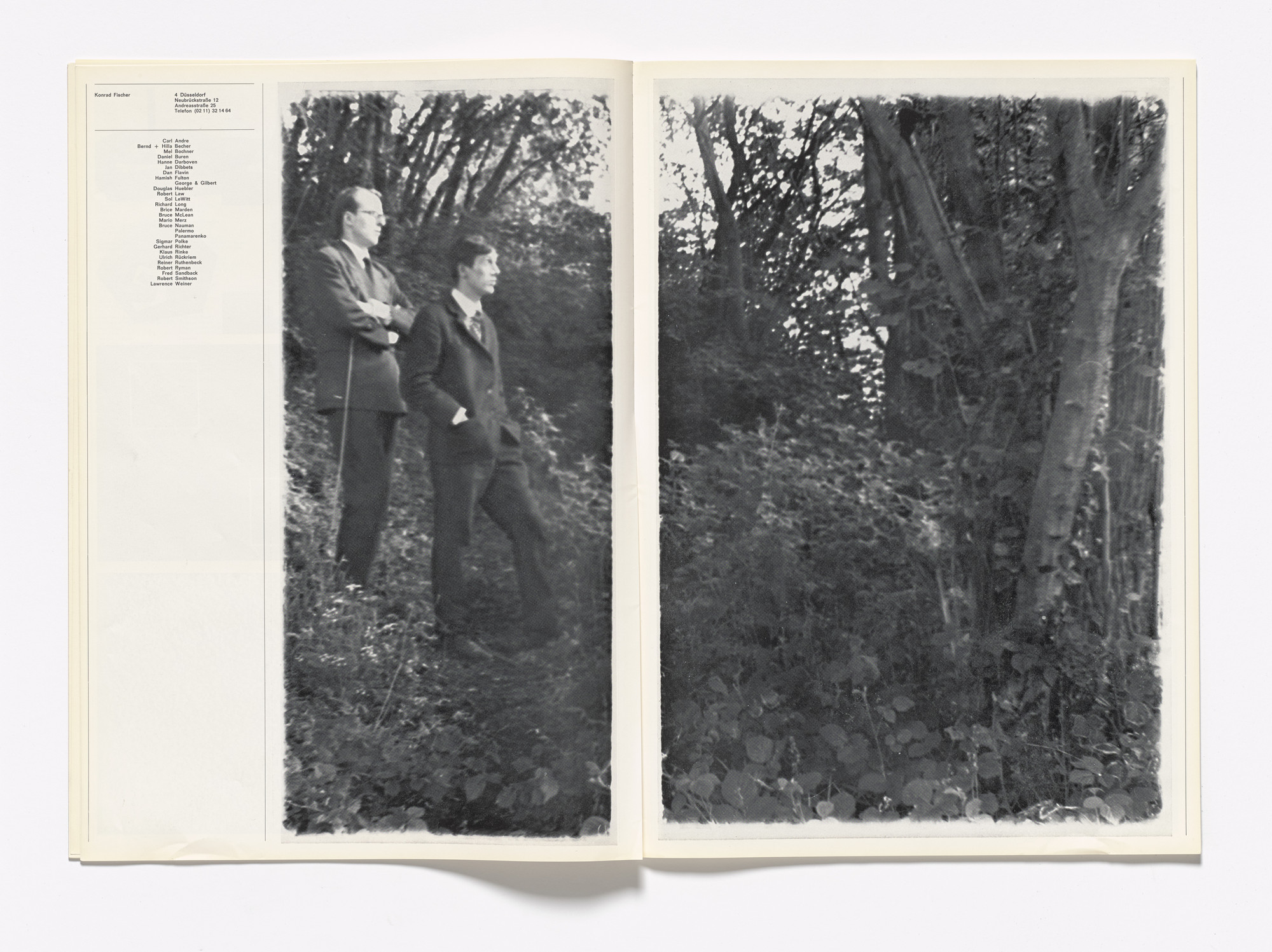 Gilbert & George. With Us In Nature from Kölner Kunstmarkt 70. 1970