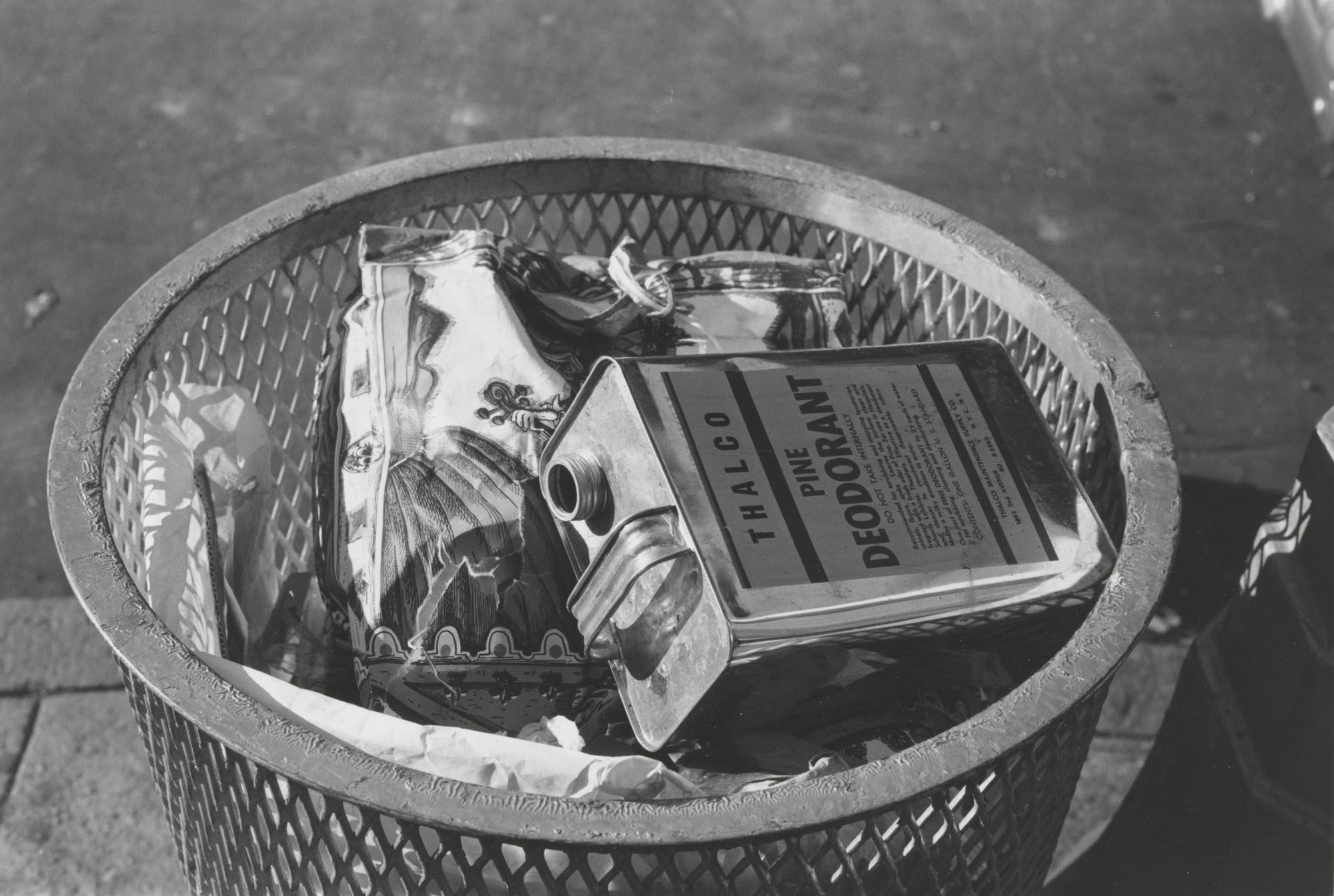Walker Evans Trash Can New York C 1968