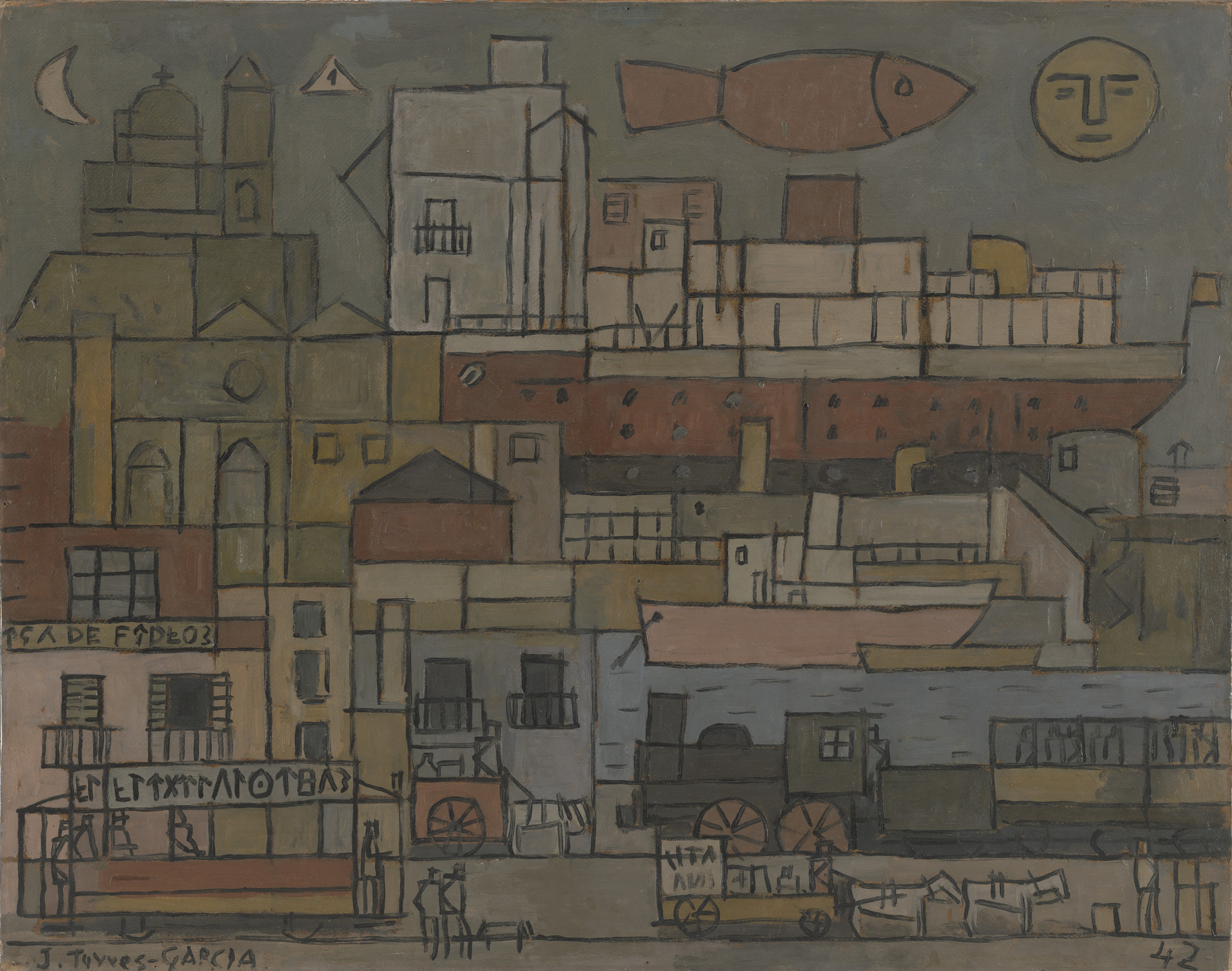 Joaquín Torres-García. The Port. 1942