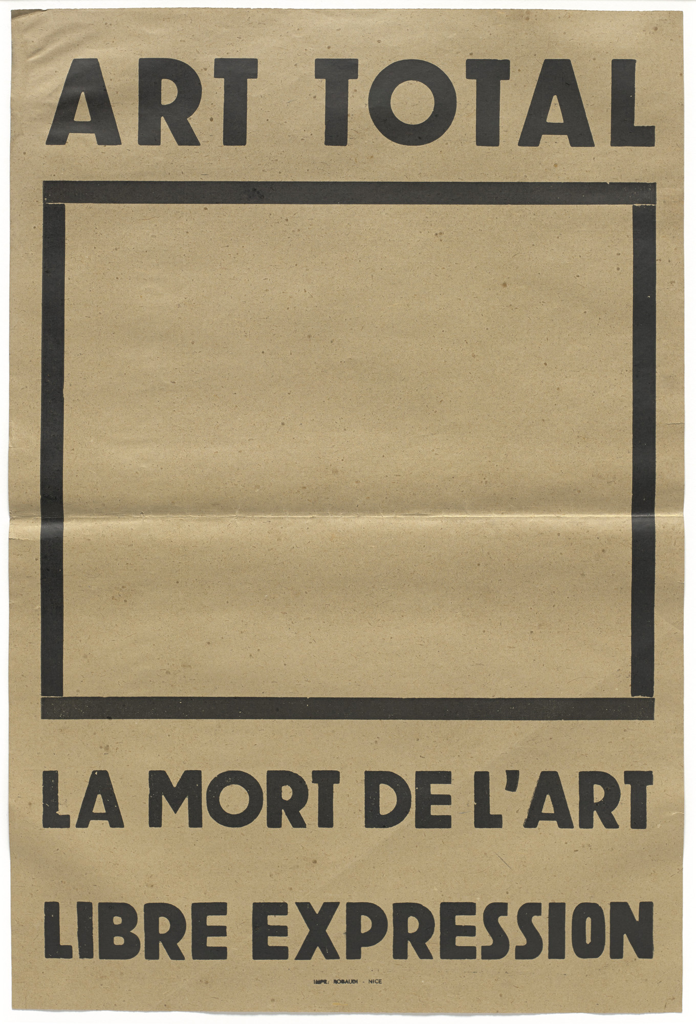 Ben Vautier. Art Total. 1964