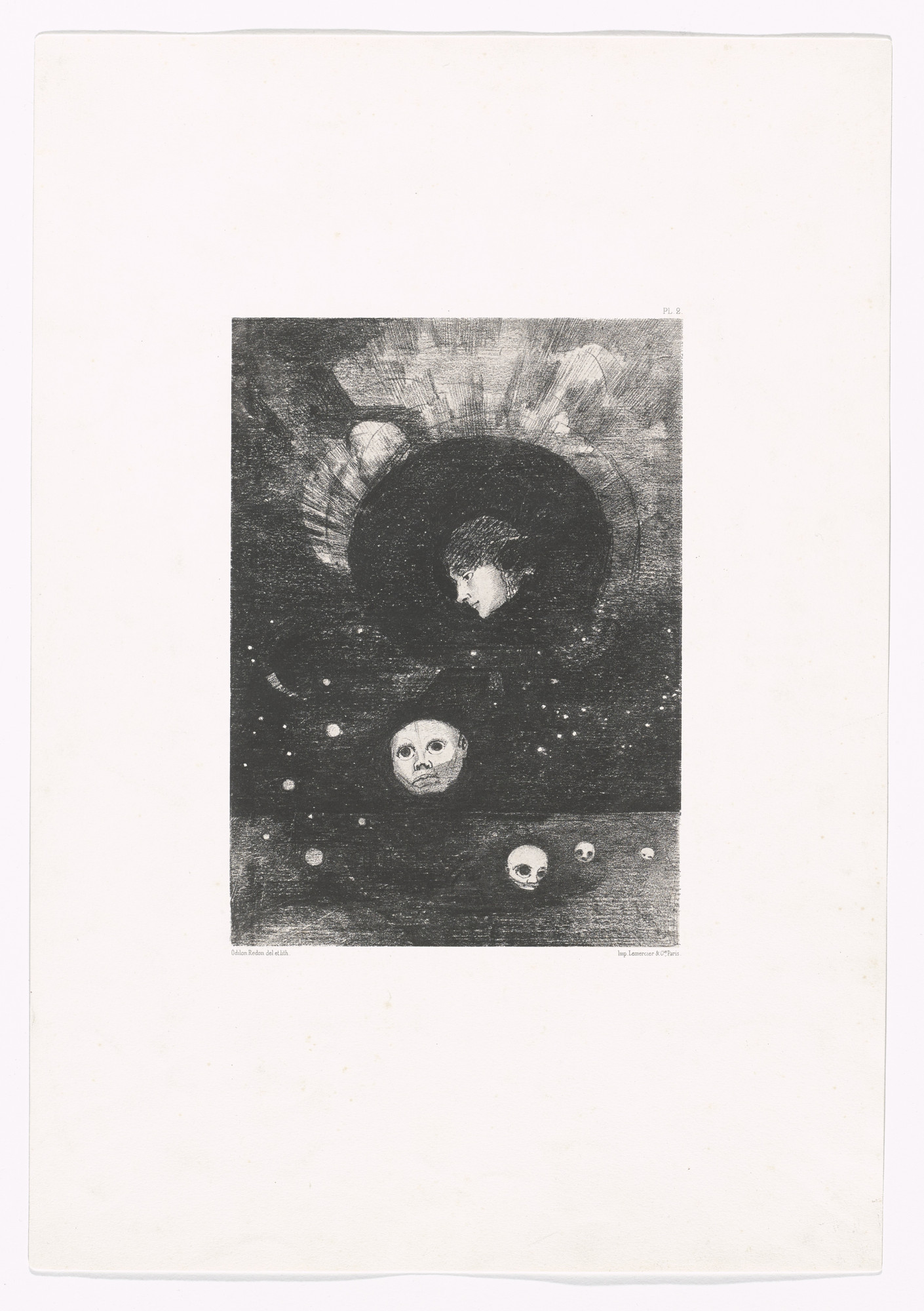 Odilon Redon. Germination from In the Dream (Dans le rêve). 1879