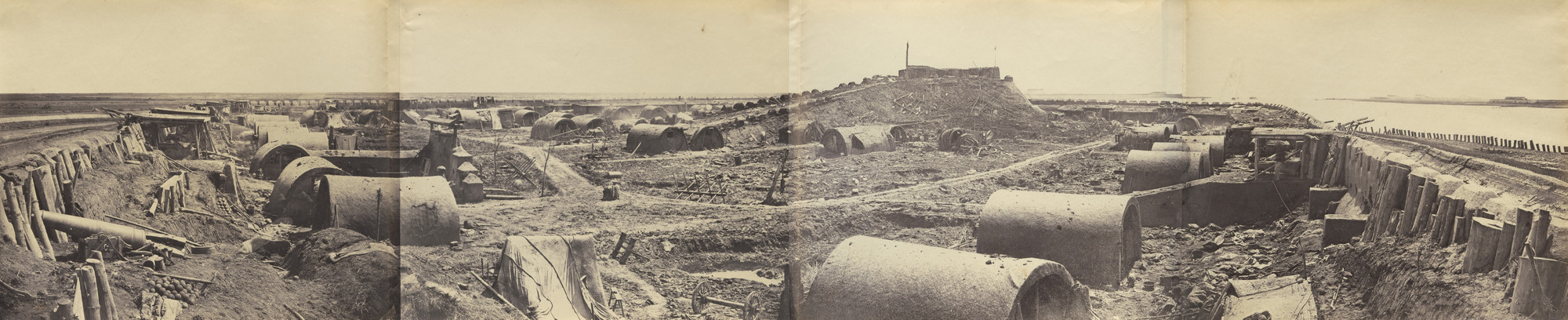 Felice Beato. Interior of the North Fort after the Capture on 21st August 1860. 1860